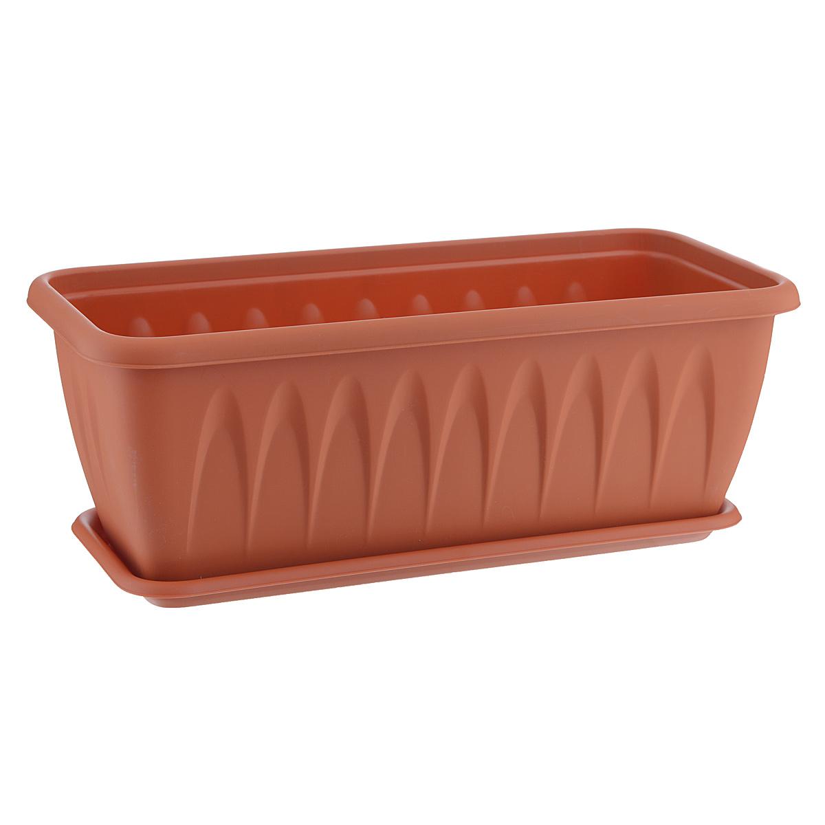 Балконный ящик Idea Алиция, с поддоном, 40 х 18 смМ 3214Балконный ящик Idea Алиция изготовлен из прочного полипропилена (пластика). Снабжен поддоном для стока воды. Изделие прекрасно подходит для выращивания рассады, растений и цветов в домашних условиях.