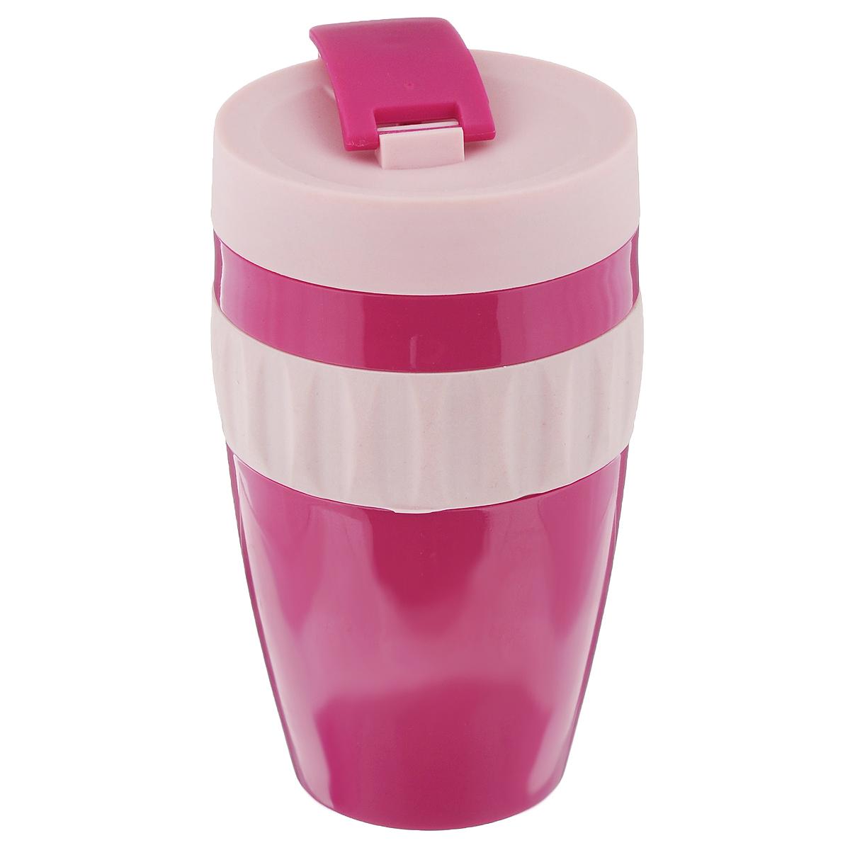 Кружка Sagaform для напитков на вынос, цвет: лиловый, розовый, 400 мл5017247Кружка Sagaform для напитков на вынос, выполненная из пищевого пластика, оснащена отвинчивающейся крышкой со специальным клапаном. Благодаря такой крышке кружку можно брать с собой в дорогу или на прогулку. Резиновая вставка на корпусе изделия предотвращает скольжение в руках. Объем: 400 мл. Диаметр (по верхнему краю): 7 см. Высота кружки (без учета крышки): 13 см.