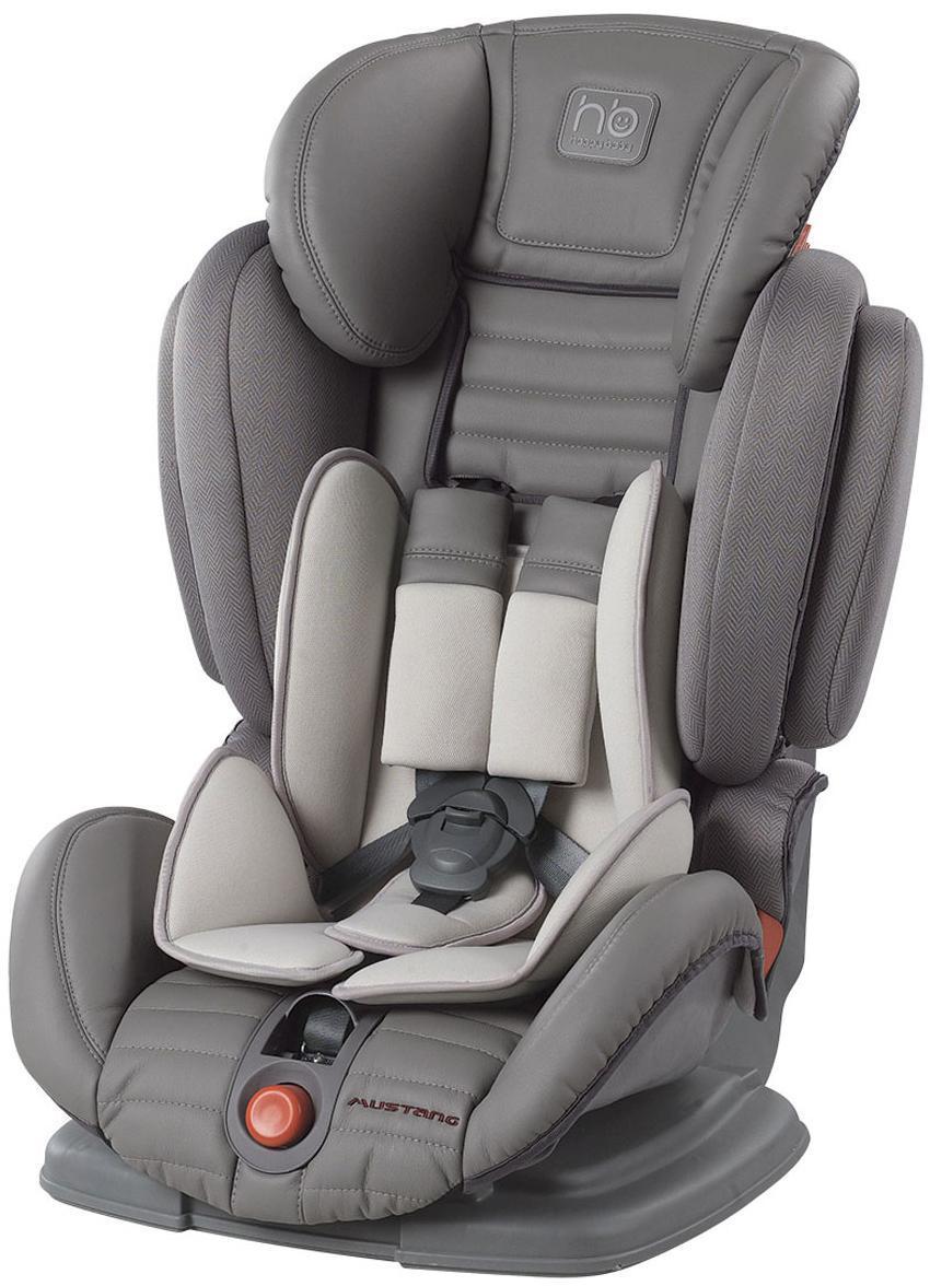 Автокресло Happy Baby Mustang гр. 1-2-3, Gray