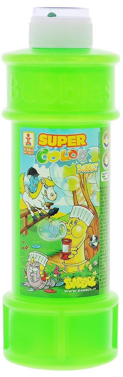 Babbol Мыльные пузыри Super Color Bubbles цвет салатовый 500 мл1504-0009Мыльные пузыри Babbol Super Color Bubbles станут отличным развлечением на любой праздник! Парящие в воздухе, большие и маленькие, блестящие мыльные пузыри всегда привлекают к себе особое внимание не только детишек, но и взрослых. Смеющиеся ребята с удовольствием забавляются и поднимают настроение всем окружающим, создавая неповторимую веселую атмосферу солнечного радостного дня. В крышке встроена игрушка-лабиринт с шариком. Порадуйте вашего ребенка таким замечательным подарком!