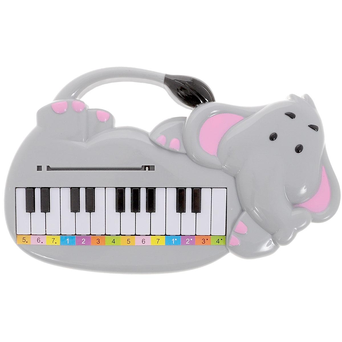 Тилибом Музыкальная игрушка Пианино-слоникТ56830Музыкальная игрушка Пианино-слоник обязательно понравится юному музыканту. С этой игрушкой малыш будет петь и учиться играть с помощью карточек три детские песенки. br>Игрушка развивает слуховое восприятие, память и внимание. Порадуйте начинающего музыканта таким замечательным подарком! Необходимо докупить 2батарейки типа AA напряжением 1,5V (в комплект не входят).