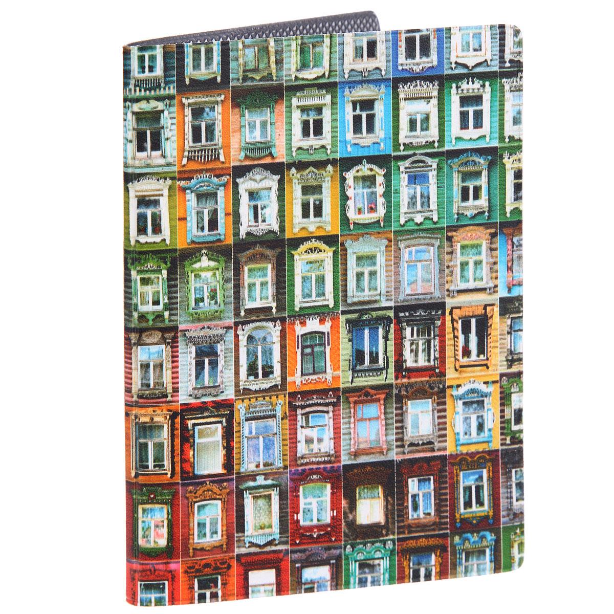 Обложка для паспорта Маленькие окна. OZAM374OZAM374Стильная обложка для паспорта Mitya Veselkov Маленькие окна выполнена из искусственной кожи. Обложка оформлена принтом с изображением окон. Яркая обложка Mitya Veselkov Маленькие окна не только поможет сохранить внешний вид ваших документов, а также защитит их от повреждений, но и станет стильным аксессуаром, идеально подходящим вашему образу.