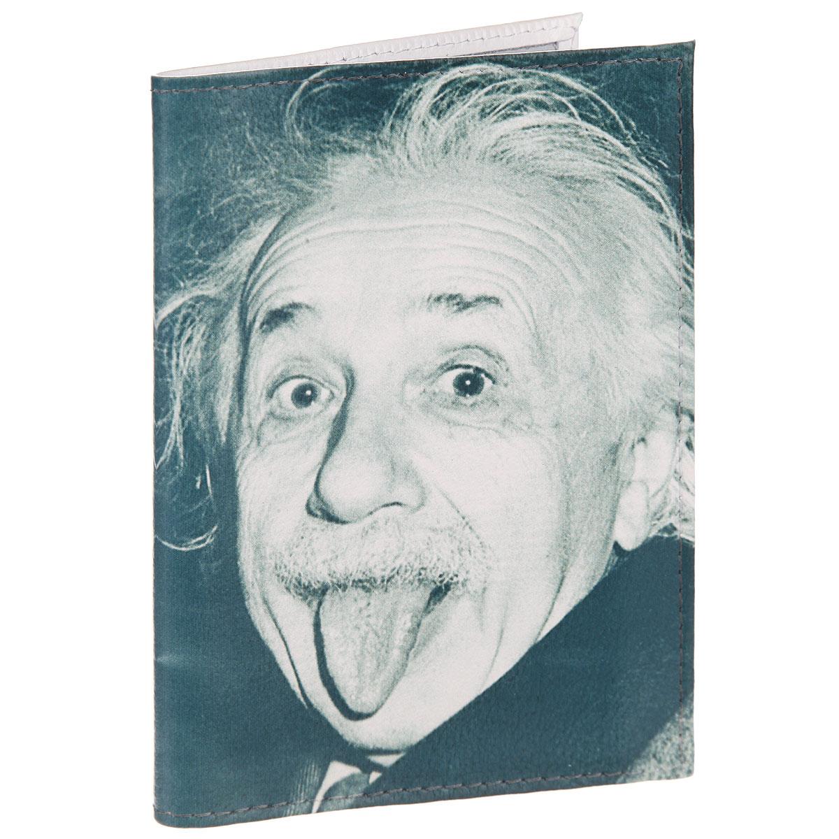 Обложка для автодокументов Эйнштейн. AUTO371AUTO371Стильная обложка для автодокументов Mitya Veselkov Эйнштейн выполнена из натуральной кожи с зернистой текстурой. Обложка оформлена художественной печатью с изображением Эйнштейна. Внутри размещен пластиковый вкладыш с шестью карманами для документов, среди которых карман формата А5. Стильная обложка для автодокументов Mitya Veselkov Эйнштейн не только поможет сохранить внешний вид ваших документов и защитит их от повреждений, но и станет стильным аксессуаром, идеально подходящим к вашему образу.
