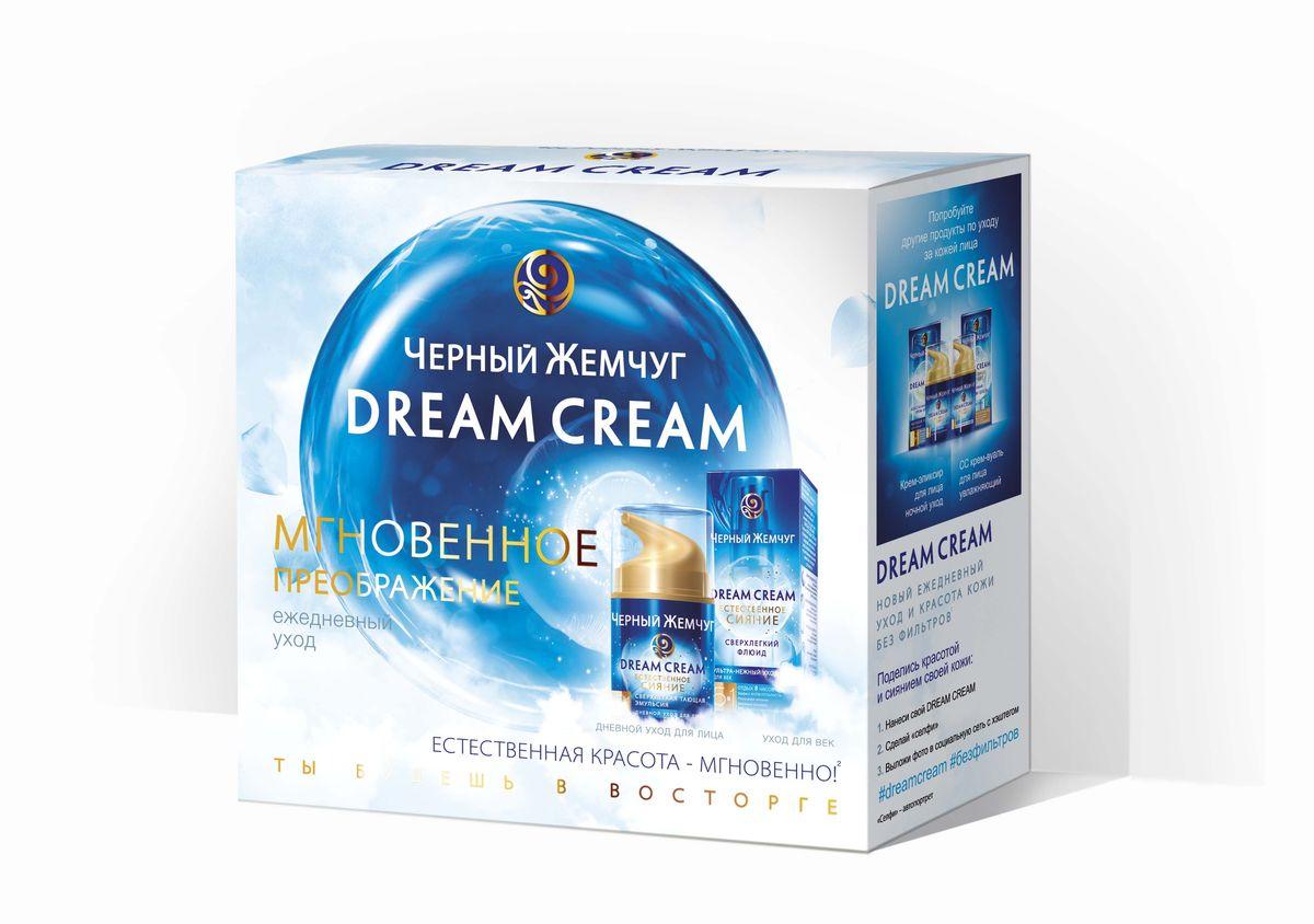 Черный жемчуг Подарочный набор Мгновенное преображение: Эмульсия для лица, 50мл + Крем-флюид для век, 25мл67016572Только Dream Cream содержит уникальный морской коктейль, усиливающий естественное сияние кожи. Средство 5в1: безупречный тон, насыщенное увлажнение, комфорт кожи нон-стоп, осветление веснушек. Микроводоросль — натуральный источник легко усваиваемых витаминов. Морские минералы — нормализует обмен веществ, уменьшают покраснения. Протеины жемчуга — улучшают микрорельеф и усиливают сияние. Микропигменты — осветляют веснушки и пигментные пятнышки. Натуральные UV фильтры и SPF10 – для повышенной защиты от солнца. Флюид сверхлегкий для век Черный жемчуг, 25мл. Хочешь красивый, сияющий взгляд без следов усталости? Черный жемчуг предлагает тебе больше! Dream Cream 1й уход, мгновенно устраняющий усталость и усиливающий сияние кожи по 5 направлениям: - Отдых 8 часов сна. Ваша кожа выспалась- свежая и отдохнувшая как после 8 часов сна. - Эффект антиусталость - устранение отчетности и синяков под глазами. - Роскошное питание - наполни кожу легко усваиваемыми витаминами на 24 часа. - Красивые...