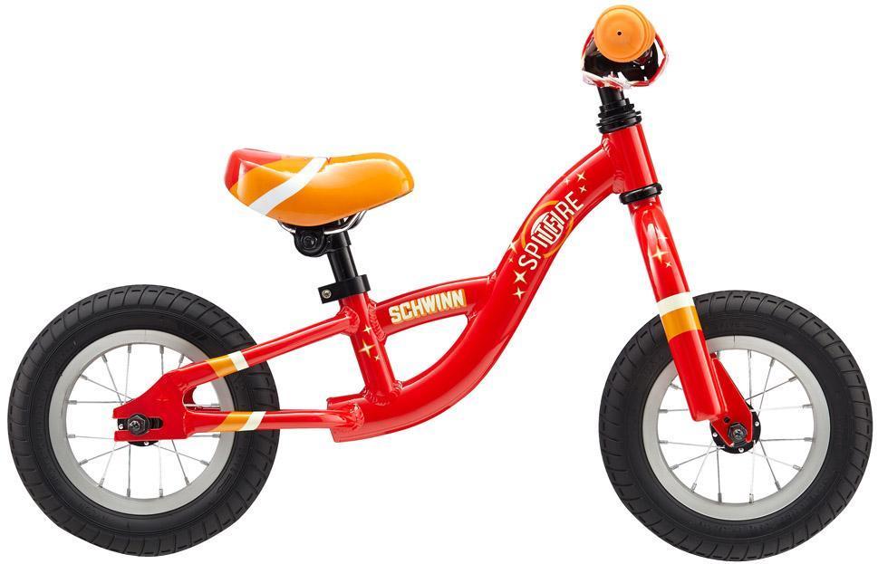 Велосипед детский Schwinn Spitfire (2015) Wnr Color43249Подбираете ребенку первый велосипед? Обратите внимание на новую спортивную тенденцию. Беговел (велобег, ранбайк) очень популярен в Европе, Америке, Японии и становится все более популярным в России. Это детский двухколесный велосипед без педалей, который подходит для детей от 1 года. Такой велосипед позволит быстро освоить езду на велосипеде, привыкнуть к скорости и научиться держать баланс. Веловег или беговел позволит маленькому ребенку научиться координироваться, держать равновесие, разгоняться и контролировать скорость. Зачастую родители очень рано покупают ребенку трехколесный или двухколесный велосипед с страховочными колесами. Маленькому ребенку тяжело сконцентрироваться, тяжело крутить педали столь громоздкой конструкции. У такого велосипеда масса преимуществ. Он легкий из-за отсутствия подвески и лишних колес. Его легко и удобно носить родителям, когда ребенок устал. Малыш не упадет с такого велосипеда и будет чувствовать себя безопасно, в любой...
