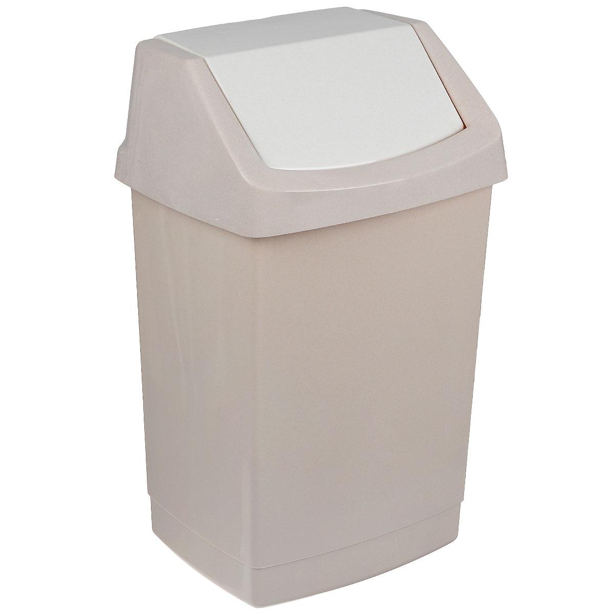 Контейнер для мусора Curver Клик-ит, цвет: бежевый люкс, 50 л4045_бежевый люкс / бежевыйКонтейнер для мусора Curver Клик-ит изготовлен из прочного пластика. Контейнер снабжен удобной съемной крышкой с подвижной перегородкой. В нем удобно хранить мелкий мусор. Благодаря лаконичному дизайну такой контейнер идеально впишется в интерьер и дома, и офиса.