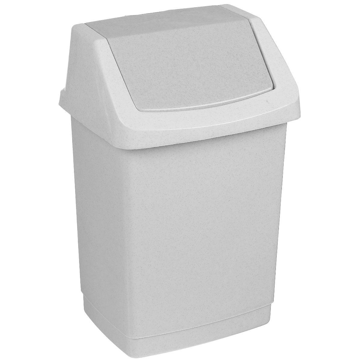 Контейнер для мусора Curver Клик-ит, цвет: серый люкс (гранит), 15 л4043_серый люкс / гранитКонтейнер для мусора Curver Клик-ит изготовлен из прочного пластика. Контейнер снабжен удобной съемной крышкой с подвижной перегородкой. В нем удобно хранить мелкий мусор. Благодаря лаконичному дизайну такой контейнер идеально впишется в интерьер и дома, и офиса.