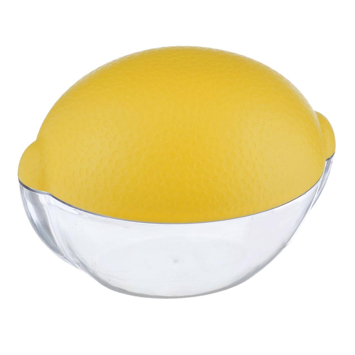Емкость для лимона Альтернатива, цвет: прозрачный, желтыйМ909Емкость для лимона Альтернатива изготовлен из высококачественного прочного пластика в виде лимона. Такой контейнер - это уникальное полезное приобретение для тех, кто привык к порядку в холодильнике. Такой чехол сохранит вкусовые качества лимона и предохранит его от заветривания.