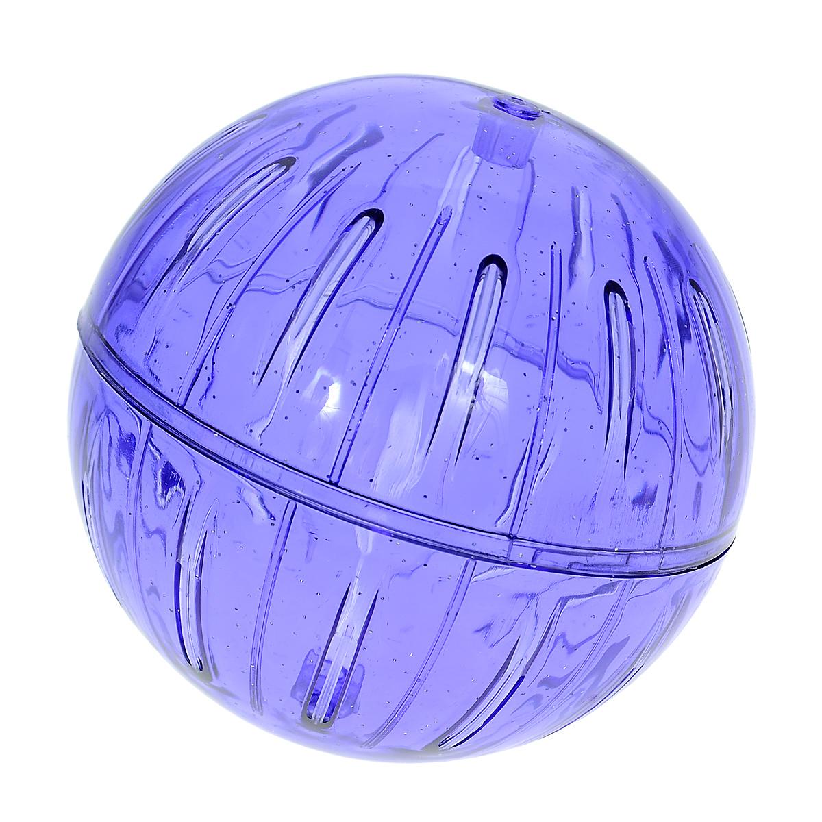 Игрушка для грызунов I.P.T.S. Шар прогулочный, цвет: синий, диаметр 12 см805634_синийИгрушка для грызунов I.P.T.S. Шар прогулочный изготовлена из нетоксичного высококачественного пластика. Шар легко моется. Устойчивая конструкция с двумя защелкивающимися половинками обеспечит безопасность и предохранит вашего питомца от побега. Большие вентиляционные отверстия обеспечивают хорошую циркуляцию воздуха, а специально разработанные выступы для лап - удобство при передвижении. Прогулка в таком шаре обеспечит грызуну нагрузку, а значит, поможет поддержать хорошую физическую форму. Чтобы правильно подобрать шар, следует измерить длину животного: диаметр шара должен быть чуть больше, чем длина вашего питомца. Диаметр шара: 12 см.