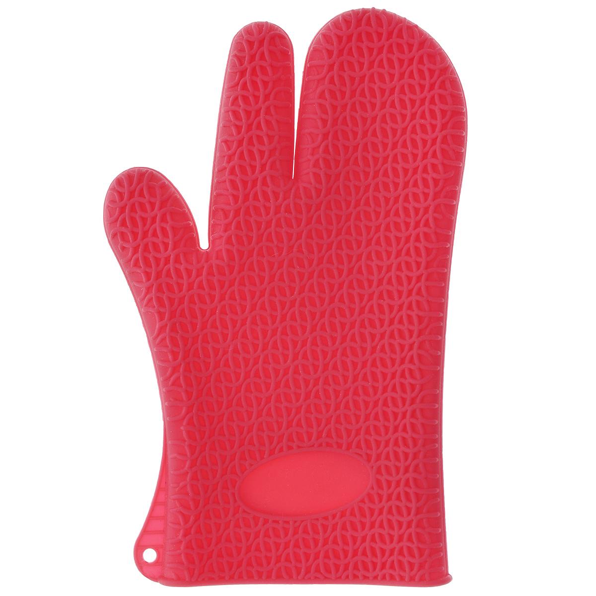 Рукавица для кухни Marmiton, силиконовая, цвет: малиновый16067_малиновыйРукавица для кухни Marmiton выполнена из цветного силикона, который выдерживает температуру от -40°С до +240°С. Изделие приятное на ощупь, невероятно гибкое и прочное. Рукавица имеет рельефную поверхность, что обеспечивает еще более надежный хват. С помощью такой рукавицы ваши руки будут защищены от ожогов, когда вы будете ставить в печь или доставать из нее выпечку. Размер: 17 см х 28 см.