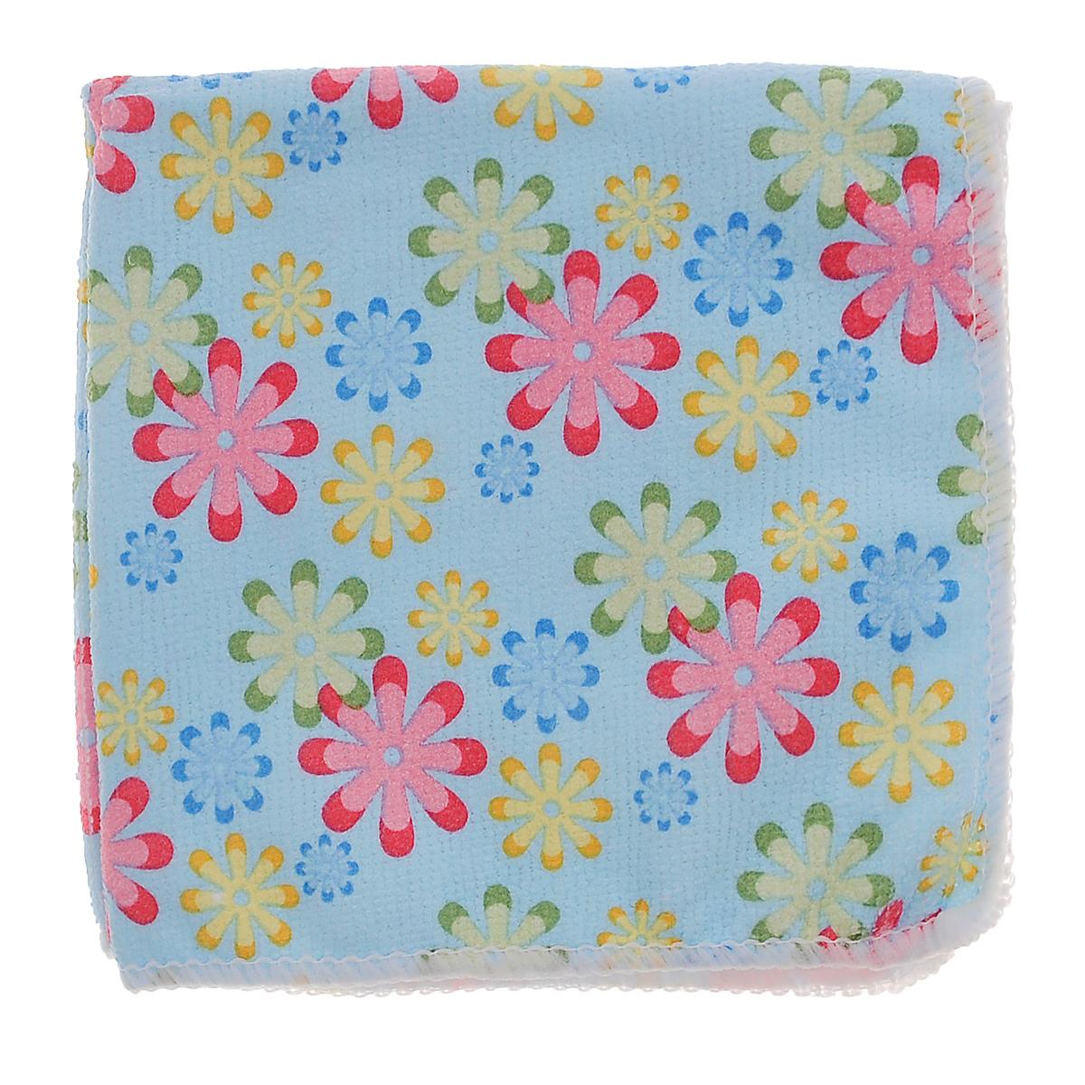 Салфетка для уборки Youll Love Маленькие цветы, цвет: голубой, 30 см х 30 см58042_мелкие цветы голубойСалфетка Youll Love Маленькие цветы, изготовленная из 20% полиамида и 80% полиэфира, предназначена для очищения загрязнений на любых поверхностях. Изделие обладает высокой износоустойчивостью и рассчитано на многократное использование, легко моется в теплой воде с мягкими чистящими средствами. Супервпитывающая салфетка не оставляет разводов и ворсинок. Размер: 30 см х 30 см.