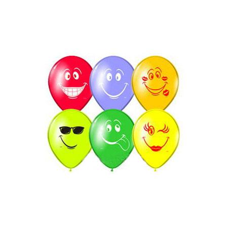 Веселая затея Набор воздушных шаров Улыбка, 5 шт1111-0039Набор воздушных шаров Веселая затея Улыбка станет отличным украшением любого торжества. Шарики изготовлены из натурального латекса. Воздушные шарики с дизайном Улыбка помогут украсить место вашего праздника, праздничный стол или стать достойной наградой за победу в конкурсе. Эти яркие праздничные аксессуары поднимут настроение вам и вашим гостям!