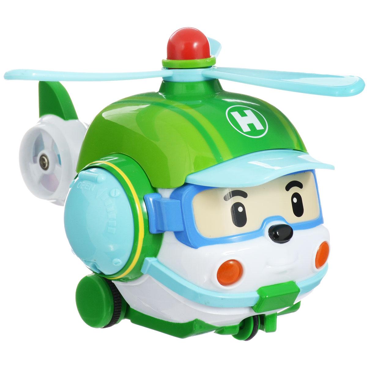 Robocar Poli Игрушка на радиоуправлении Хэли83193Радиоуправляемая игрушка со световыми эффектами Хэли привлечет внимание вашего ребенка и не позволит ему скучать. Она выполнена из прочного пластика голубого и зеленого цветов в виде вертолетика Хэли - персонажа мультфильма Робокар Поли и его друзья. Игрушка может двигаться вперед, поворачивать направо и разворачиваться. Во время движения у нее светятся фары. Колеса вертолета дополнены резиновыми вставками, которые исключают скольжение игрушки на гладкой поверхности. К вертолету прилагается пульт с инфракрасным дистанционным управлением, на котором имеются две крупные кнопки выбора направления движения игрушки и кнопка включения. В комплект входит инструкция по эксплуатации на русском языке. Такая замечательная игрушка подарит вашему малышу массу положительных эмоций! Для работы машинки необходимы 3 батареи напряжением 1,5V типа АА, для работы пульта управления 1 батарея напряжением 9V типа 6LR61 (не входят в комплект).