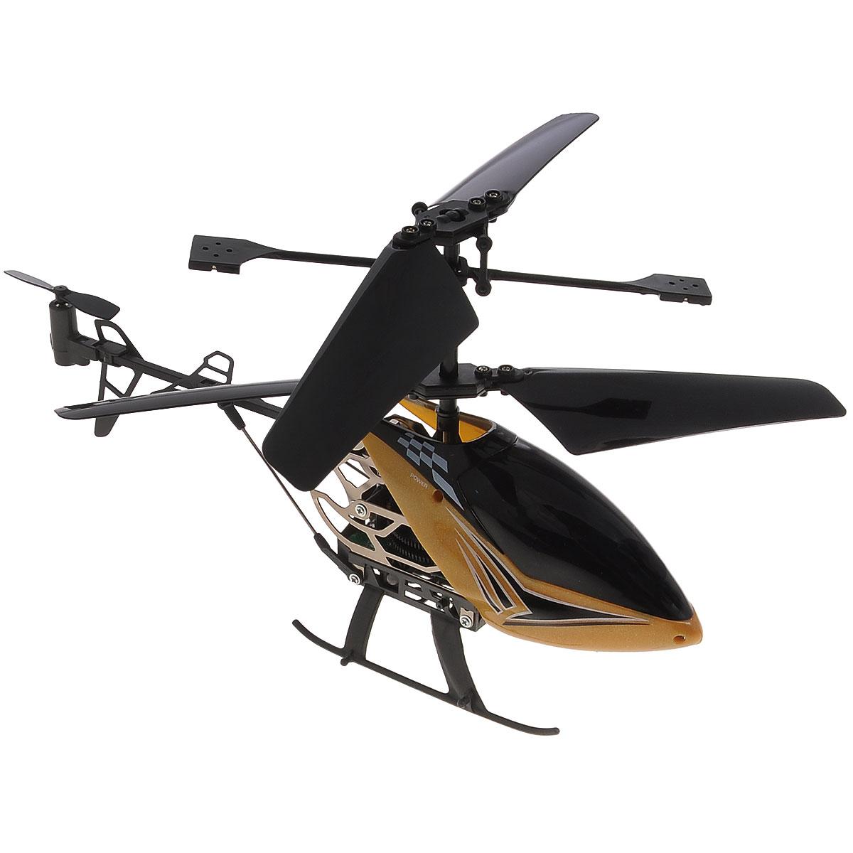 Silverlit Вертолет на радиоуправлении Sky Dragon цвет золотистый84512Радиоуправляемая модель Silverlit Вертолет Sky Dragon со световыми эффектами привлечет внимание не только ребенка, но и взрослого, и станет отличным подарком любителю воздушной техники. Вертолет оснащен уникальной системой винта, позволяющей вертолету плавно подниматься, а также встроенным гироскопом, который поможет скорректировать и устранить нежелательные вращения корпуса вертолета, благодаря чему сохранится высокая устойчивость полета. Каркас вертолета выполнен из пластика с использованием металла. Вертолет имеет трехканальное дистанционное управление, с помощью пульта управления можно менять скорость полета, а также проделывать фигуры высшего пилотажа. Модель вертолета идеально подходит для игры как внутри помещения, так и на улице. Зарядка аккумулятора осуществляется от пульта управления. В комплект входит радиоуправляемый вертолет, пульт управления, запасной хвостовой винт, отвертка для смены винта и инструкция по эксплуатации на русском языке. Каждый полет...