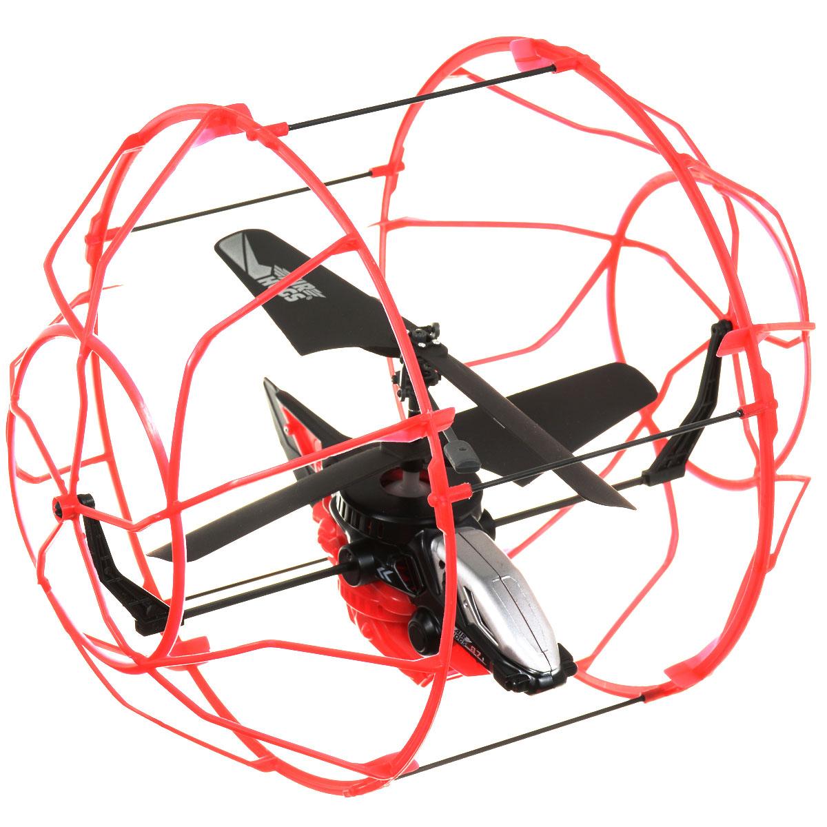 Air Hogs Вертолет на радиоуправлении Roller Copter цвет красный черный44501 краснВертолет в клетке - очередное чудо техники от AirHogs. Этот уникальный вертолет защищен наружной клеткой, которая создает барьер между ним и поверхностью или предметами. Клетка вращается вокруг вертолета, что позволяет ему будто бы забираться на стену. Модель хорошо подойдет новичкам в управлении вертолетами, с помощью которой они будут практиковаться с минимальными повреждениями игрушки. Питание игрушки осуществляется с помощью литий-полимерного аккумулятора с напряжением 3,7 В. Время зарядки - около 30 минут.