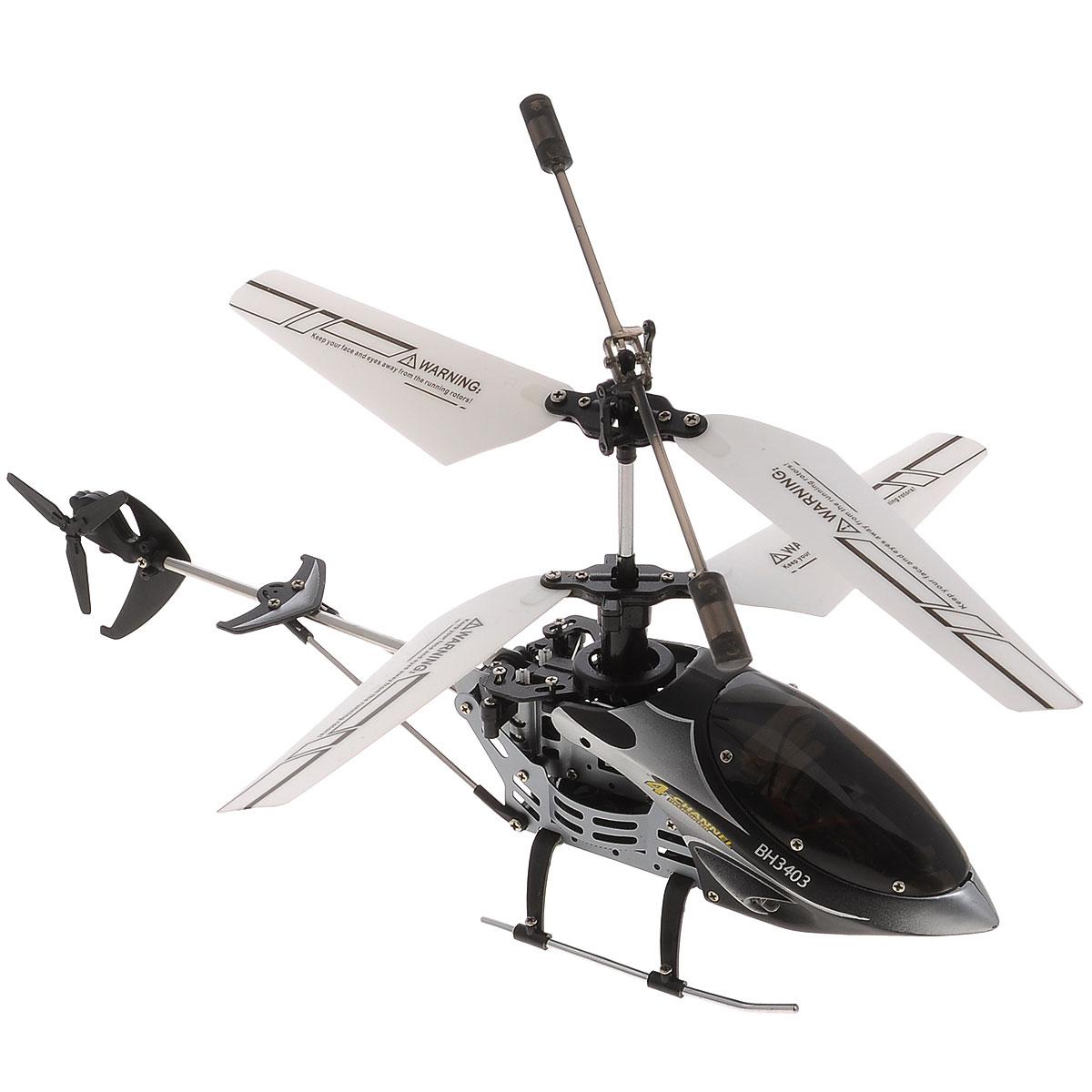 Властелин небес Вертолет на радиоуправлении Проворный цвет серый черныйBH 3403Вертолет Властелин небес Проворный c инфракрасным управлением и встроенным гироскопом отлично подходит для полетов в закрытых помещениях и на улице в безветренную погоду. Гироскоп предназначен для курсовой стабилизации полета. Выполнен из прочного материала, поэтому риск повреждений игрушки при ударах и падениях сведен к минимуму. Вертолет небольшой и маневренный и легко обходит препятствия, послушно следуя командам c пульта управления. Игрушка может летать вперед-назад, вверх-вниз, вправо-влево, поворачивать, вращаться и зависать в воздухе. У вертолета имеется демо-режим. Вертолет оснащен проблесковыми огнями для полета в темноте. Имеется возможность подзарядки вертолета от пульта и USB-шнура. Полностью заряженный вертолет летает 8-10 минут. Игрушка развивает многочисленные способности ребенка - мелкую моторику, пространственное мышление, реакцию и логику. Вертолет работает от встроенного аккумулятора (Li-Poly 3,7V), который заряжать возможно от USB-шнура (входит в...