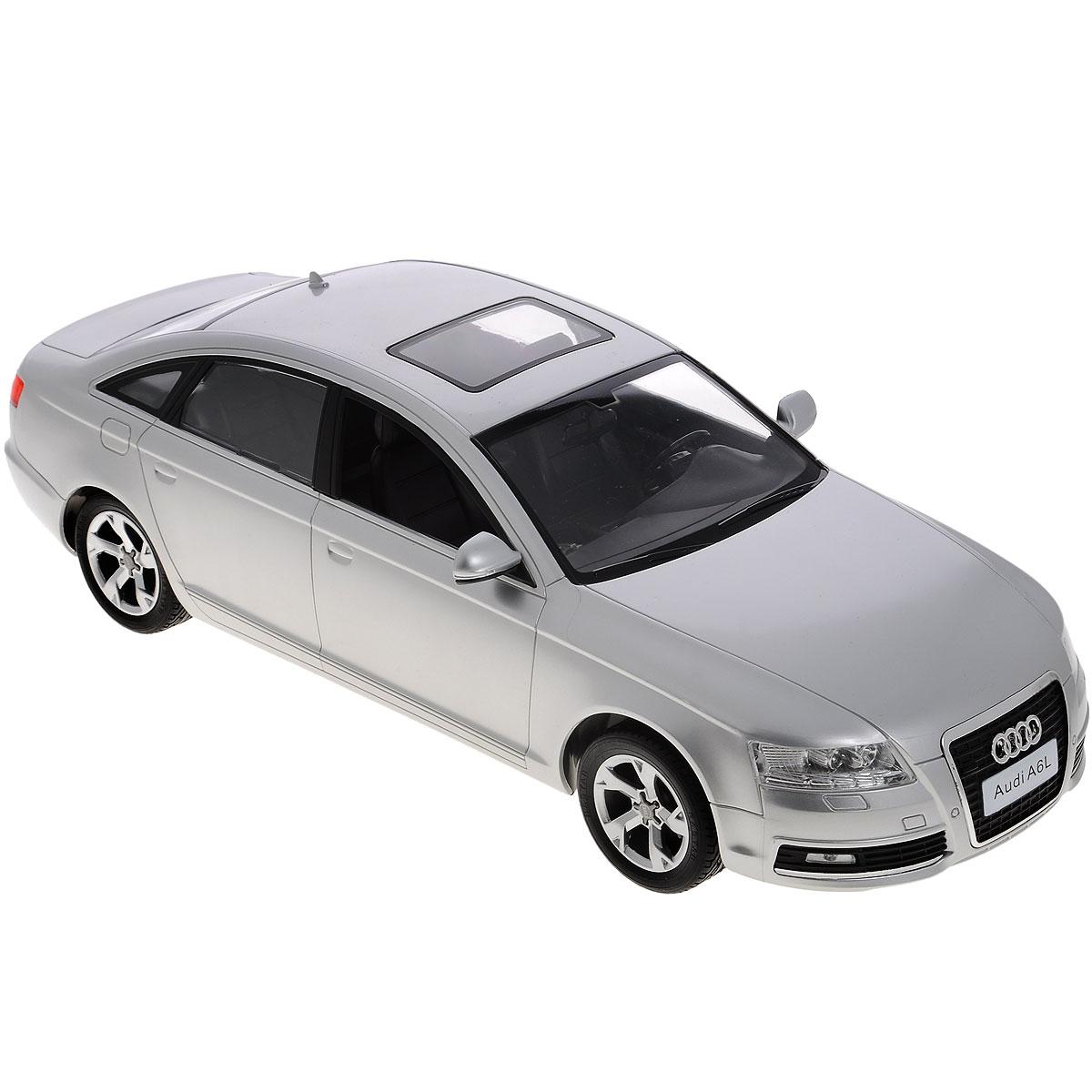 Rastar Радиоуправляемая модель Audi A6L цвет серебристый42100