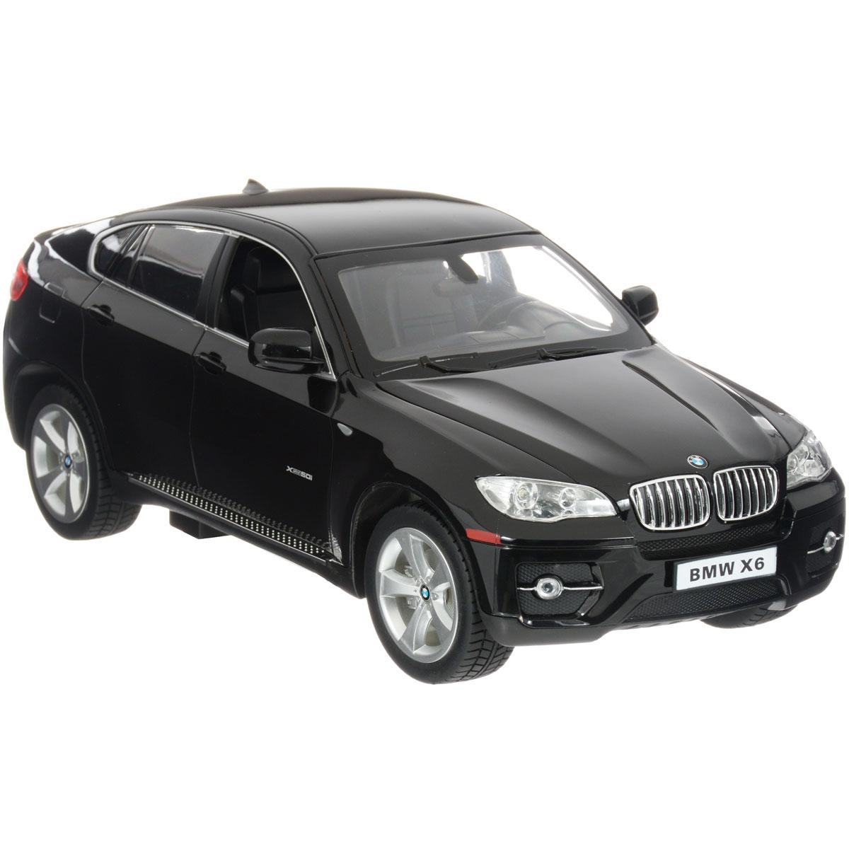 Rastar Радиоуправляемая модель BMW X6 цвет черный31400Любители немецких автомобилей, наверняка, оценят этот кроссовер. Увлекательно управлять BMW X6, даже если это только радиоуправляемая копия. Особенности: Машина на радиоуправлении BMW X6 выполнена в масштабе 1:14 Модель управляется от пульта дистанционного управления пистолетного типа