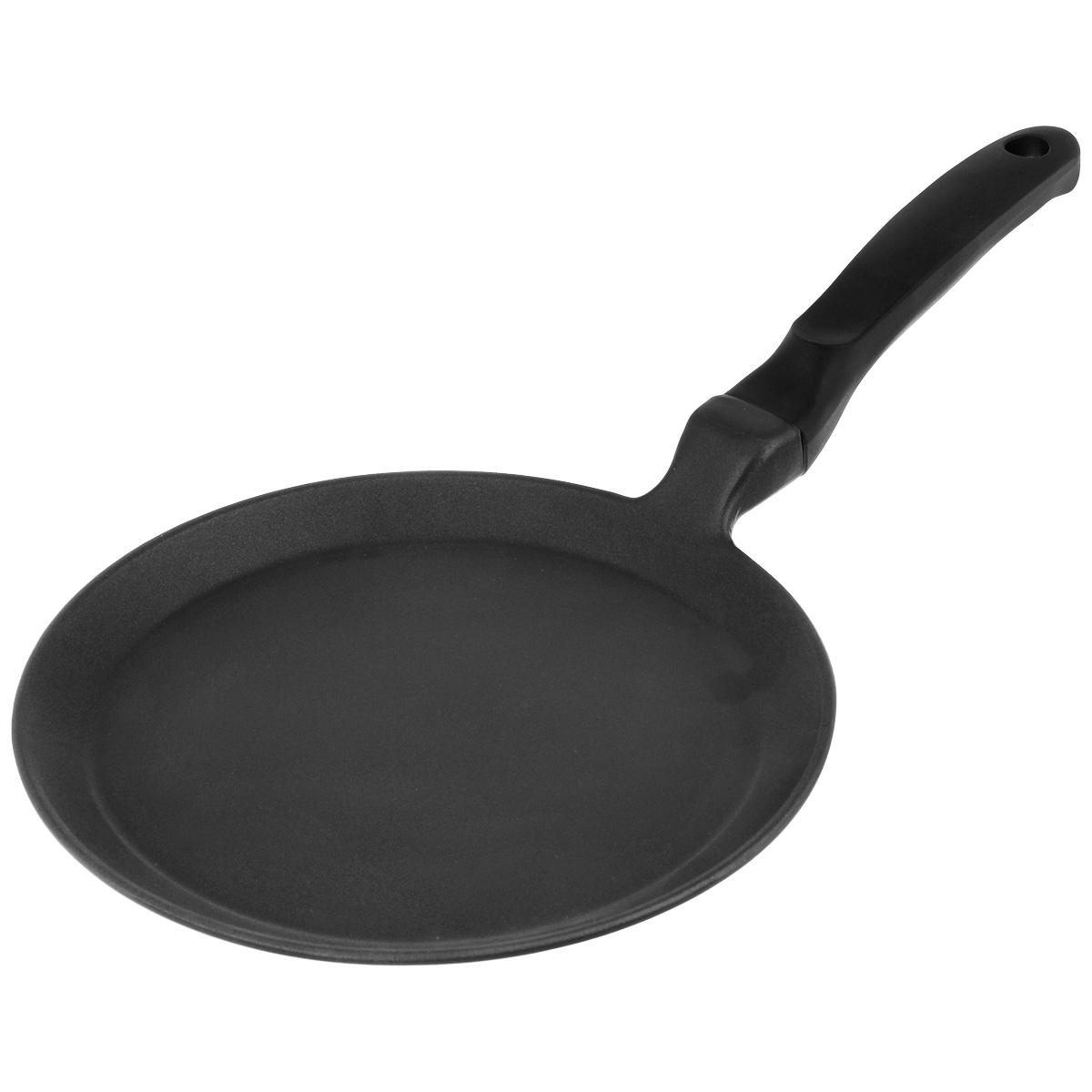 Сковорода блинная Risoli Saporella, с антипригарным покрытием. Диаметр 25 см000106/25T0FСковорода блинная Risoli Saporella изготовлена из литого алюминия с антипригарным покрытием. Сковорода идеальна для приготовления пищи с минимальным количеством масла. Изделие оснащено удобной бакелитовой ручкой. Подходит для газовых и электрических плит. Не подходит для индукционных плит. Можно мыть в посудомоечной машине. Диаметр (по верхнему краю): 25 см. Высота: 1,8 см. Длина ручки: 17 см. Толщина стенки: 4 мм. Толщина дна: 5 мм.