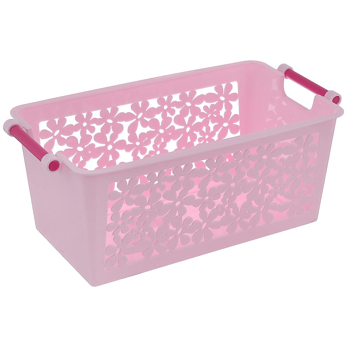 Корзина Альтернатива Романтика, цвет розовый, 24,5 х 14,5 х 11 см М1838М1838_розовыйУниверсальная корзина Романтика, изготовлена из пластика, предназначена для хранения мелочей в ванной, на кухне, даче или гараже. Позволяет хранить мелкие вещи, исключая возможность их потери.