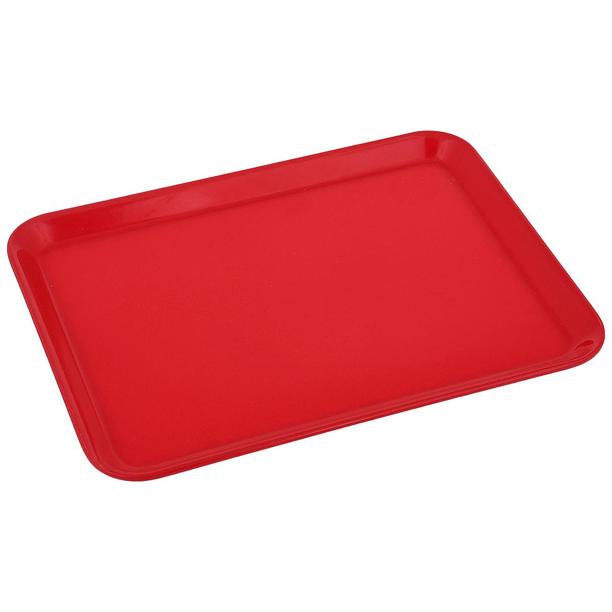 Поднос Zeller, цвет: красный, 24 см х 18 см26692Оригинальный поднос Zeller, изготовленный из пластика, станет незаменимым предметом для сервировки стола. Поднос не только дополнит интерьер вашей кухни, но и предохранит поверхность стола от грязи и перегрева. Яркий и стильный поднос Zeller придется по вкусу и ценителям классики, и тем, кто предпочитает современный стиль.