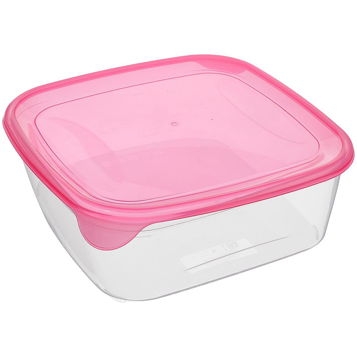 Емкость для заморозки и СВЧ Curver Fresh & Go, цвет: розовый, прозрачный, 1,7 л561_розовый / прозрачныйКвадратная емкость для заморозки и СВЧ Curver изготовлена из высококачественного пищевого пластика (BPA free), который выдерживает температуру от -40°С до +100°С. Стенки емкости прозрачные. Полупрозрачная цветная крышка плотно закрывается, дольше сохраняя продукты свежими и вкусными. Емкость удобно брать с собой на работу, учебу, пикник или просто использовать для хранения пищи в холодильнике. Можно использовать в микроволновой печи и для заморозки в морозильной камере. Можно мыть в посудомоечной машине.