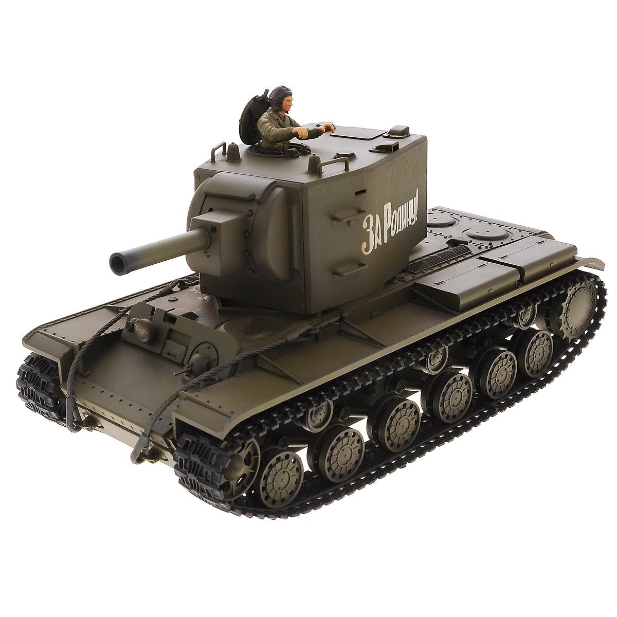 VSP Танк на радиоуправлении Soviet Red Army KV-2628439Радиоуправляемый танк VSP Soviet Red Army KV-2 - это реалистичная коллекционная модель в масштабе 1/24. Она представляет собой уменьшенную копию советского тяжелого штурмового танка времен Второй мировой войны, известного как КВ-2 (Клим Ворошилов). Эта модель танка производилась в 1939 - 1943-х годах, когда советская армия остро нуждалась в хорошо защищенном танке с мощным вооружением для борьбы с фортификациями. Пульт управления работает на частоте 2,4 ГГц и оснащен светодиодной подсветкой голубого цвета. Система Airsoft обеспечивает постоянное движение танка и стрельбу из пневматической пушки. Данная модель может стрелять мягкими (пневматическими) BB шариками, поэтому имеет возрастное ограничение от 14 лет. Благодаря работе на частоте 2,4 ГГц танк будет легко сопрягаться с пультом управления. Новые электронные схемы, примененные в этом пульте, позволяют принимать участие в игровых сражениях одновременно 16 танкам. Радиус управления заметно...