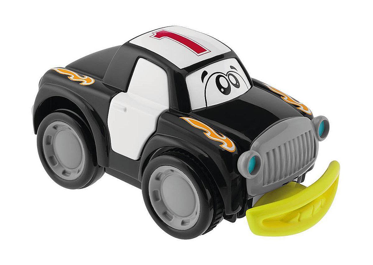 Chicco Машинка Turbo Touch Crash, цвет: черный00006721000000Игрушечная машинка Turbo Touch Crash стартует от простого нажатия на заднюю часть автомобиля. Чем сильнее нажать, тем продолжительней будет путь автомобиля. При столкновении с препятствием у забавной машины открываются двери, и решетка радиатора, после чего можно увидеть забавное выражение на мордашке машинки. Эти действия сопровождаются интересными звуковыми эффектами. После того как ребенок починит машинку, собрав все отвалившиеся части, она может продолжить свой путь. Работает от 3 батареек типа АА (входят в комплект).
