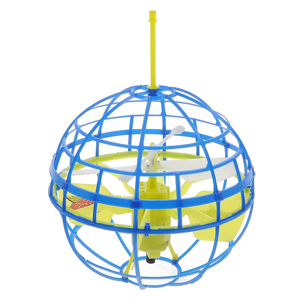 Air Hogs Игрушка на радиоуправлении Atmosphere Axis цвет синий44475Радиоуправляемая модель Air Hogs Летающий шар обязательно понравится вашему ребенку. Она выполнена из безопасных материалов в виде шара, внутри которого находится пропеллер. При включении шар взлетает в воздух. Управление игрушкой осуществляется рукой. Сферическая форма шара игрушки позволяет ей отталкиваться от препятствий. Выключение производится посредством переведения переключателя на устройстве управления в положение Оff. Игрушка заряжается в отключенном состоянии на зарядном устройстве - подставке. Игрушка работает от перезаряжаемого литий-полимерного элемента питания напряжением 3,7V (входит в комплект). Устройство управления работает от 6 батареек напряжением 1,5V типа АА (не входят в комплект).