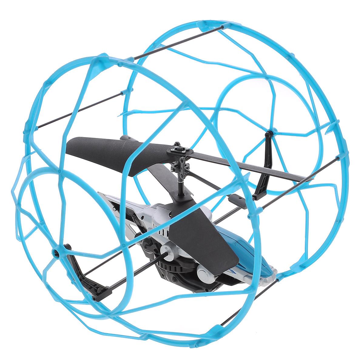 Air Hogs Вертолет на радиоуправлении Roller Copter цвет голубой черный44501_голубойВертолет в клетке - очередное чудо техники от AirHogs. Этот уникальный вертолет защищен наружной клеткой, которая создает барьер между ним и поверхностью или предметами. Клетка вращается вокруг вертолета, что позволяет ему будто бы забираться на стену. Модель хорошо подойдет новичкам в управлении вертолетами, с помощью которой они будут практиковаться с минимальными повреждениями игрушки. Питание игрушки осуществляется с помощью литий-полимерного аккумулятора с напряжением 3,7 В. Время зарядки - около 30 минут.