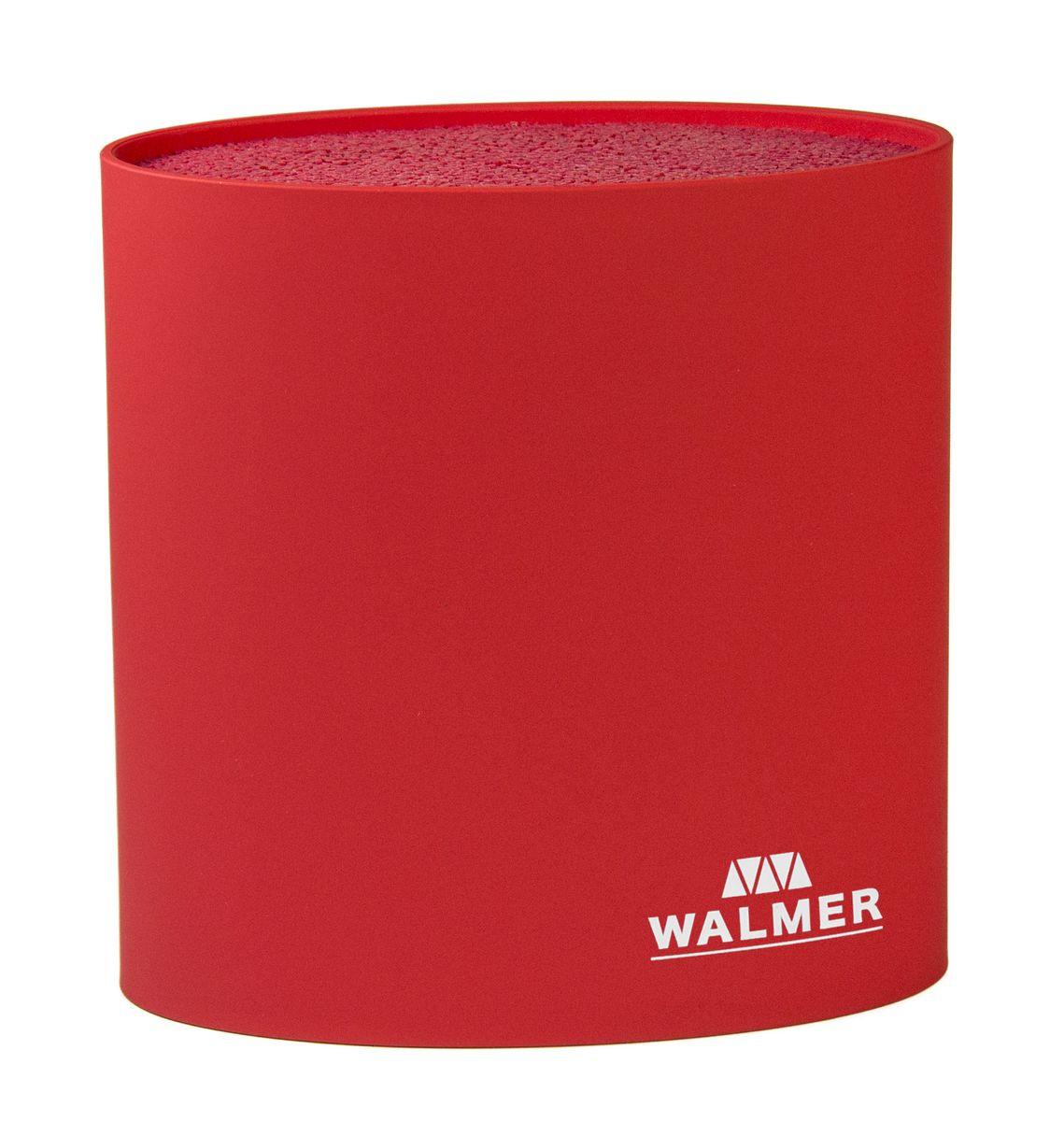 Подставка для ножей овальная, 16x7x16см, красная ТМ WALMERW08002202Подставка для ножей овальная, 16x7x16см, красная ТМ WALMER