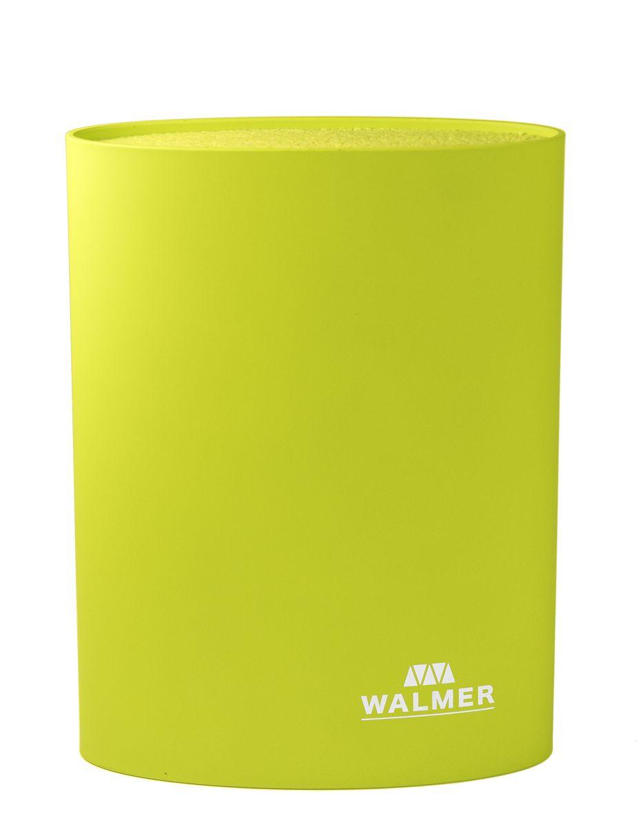 Подставка для ножей овальная, 16x7x22см, зеленая ТМ WALMERW08002303Подставка для ножей овальная, 16x7x22см, зеленая ТМ WALMER