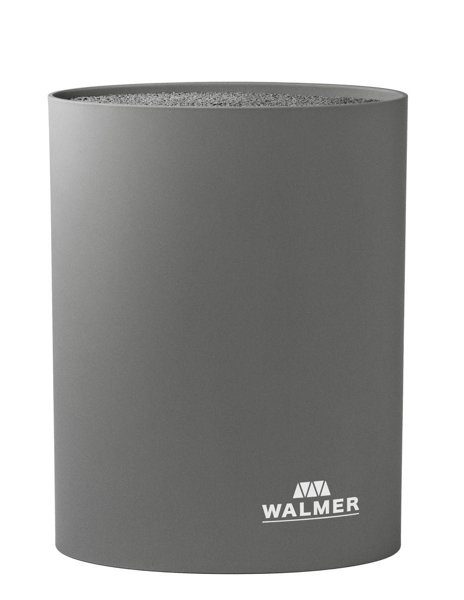 Подставка для ножей овальная, 16x7x22см, серая ТМ WALMERW08002304Подставка для ножей овальная, 16x7x22см, серая ТМ WALMER