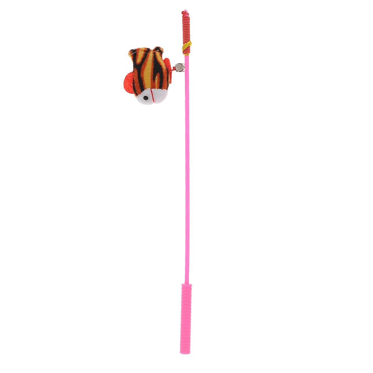 Дразнилка-удочка для кошек V.I.Pet Рыбка, цвет: розовый, коричневый, белыйST-104_розовыйДразнилка-удочка для кошек V.I.Pet Рыбка, изготовленная из текстиля и пластика, прекрасно подойдет для веселых игр вашего пушистого любимца. Играя с этой забавной дразнилкой, маленькие котята развиваются физически, а взрослые кошки и коты поддерживают свой мышечный тонус. Яркая игрушка на конце удочки сразу привлечет внимание вашего любимца, не навредит здоровью и увлечет его на долгое время. Длина удочки: 37 см. Размер игрушки: 6,5 см х 6 см х 2 см.