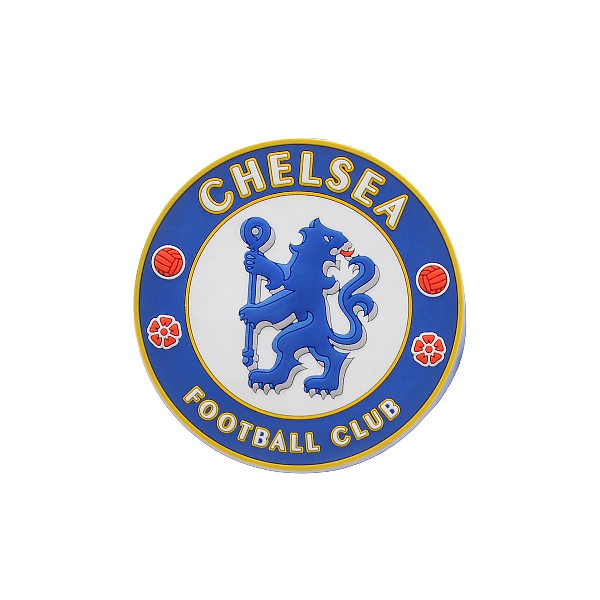 Магнит Chelsea, цвет: синий, белый, красный, диаметр 7,7 см. 083008300Магнит Chelsea изготовлен из мягкого ПВХ, идентичного резине. Крепится на любые металлические поверхности. Магнит Chelsea порадует истинного болельщика футбольного клуба, а также станет приятным подарком к любому празднику.