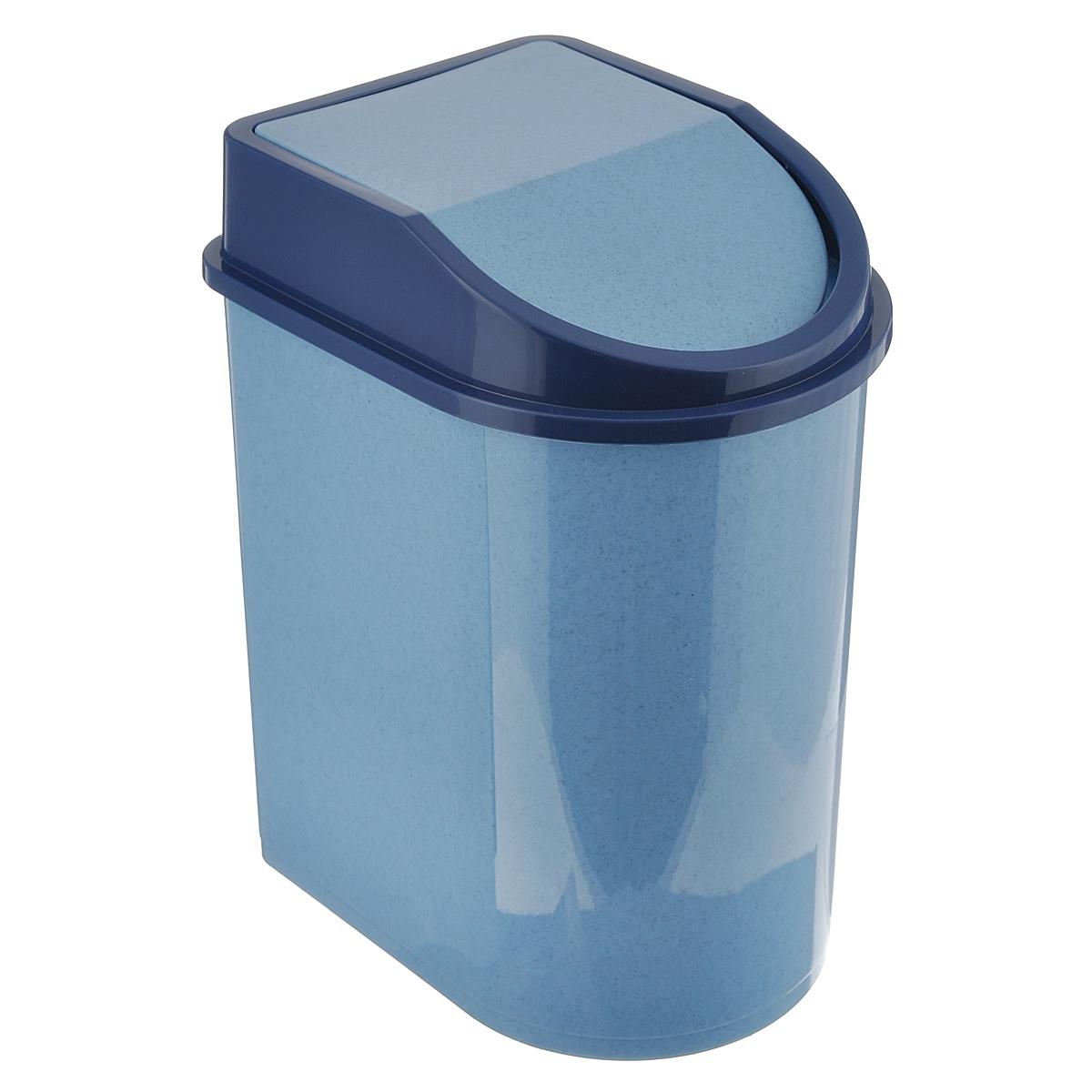 Контейнер для мусора Idea, цвет: голубой мрамор, 5 лМ 2480Мусорный контейнер Idea, выполненный из прочного полипропилена (пластика), не боится ударов и долгих лет использования. Изделие оснащено плавающей крышкой, с помощью которой его легко использовать. Крышка плотно прилегает, предотвращая распространение запаха. Вы можете использовать такой контейнер для выбрасывания разных пищевых и не пищевых отходов. Контейнер может пригодиться также в ванной комнате или у туалетного столика.