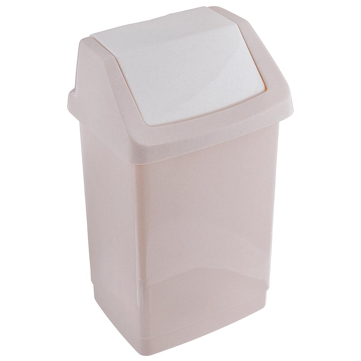 Контейнер для мусора Curver Клик-ит, цвет: бежевый, 9 л4042_бежевый люкс / бежевыйКонтейнер для мусора Curver Клик-ит изготовлен из прочного пластика. Контейнер снабжен удобной съемной крышкой с подвижной перегородкой. Благодаря лаконичному дизайну, такой контейнер идеально впишется в интерьер и дома, и офиса.