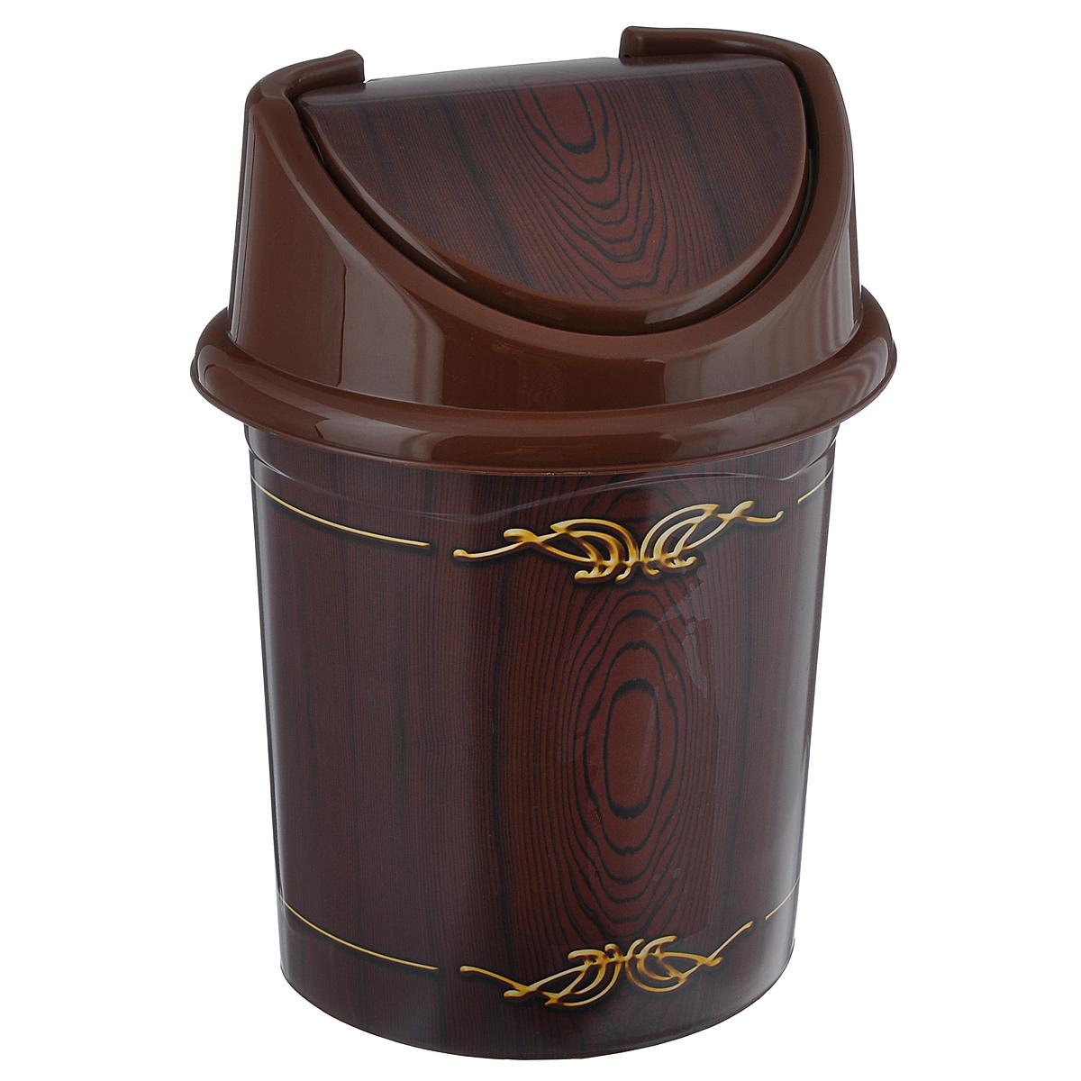 Контейнер для мусора Violet Дерево, цвет: коричневый, желтый, 14 л0414/81Контейнер для мусора Violet Дерево изготовлен из прочного пластика.Такой аксессуар очень удобен в использовании как дома, так и в офисе. Контейнер снабжен удобной съемной крышкой с подвижной перегородкой.Стильный дизайн сделает его прекрасным украшением интерьера. Размер изделия: 29 см х 31,5 см х 45 см.