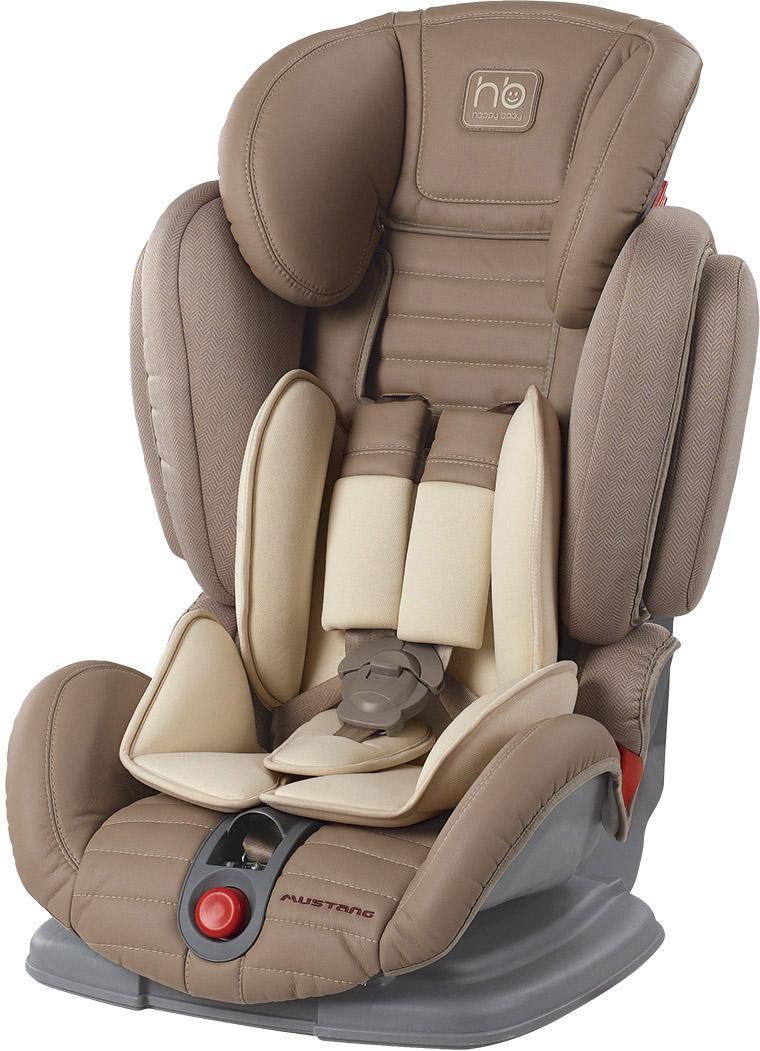 Автокресло Happy Baby Mustang гр. 1-2-3, Beige