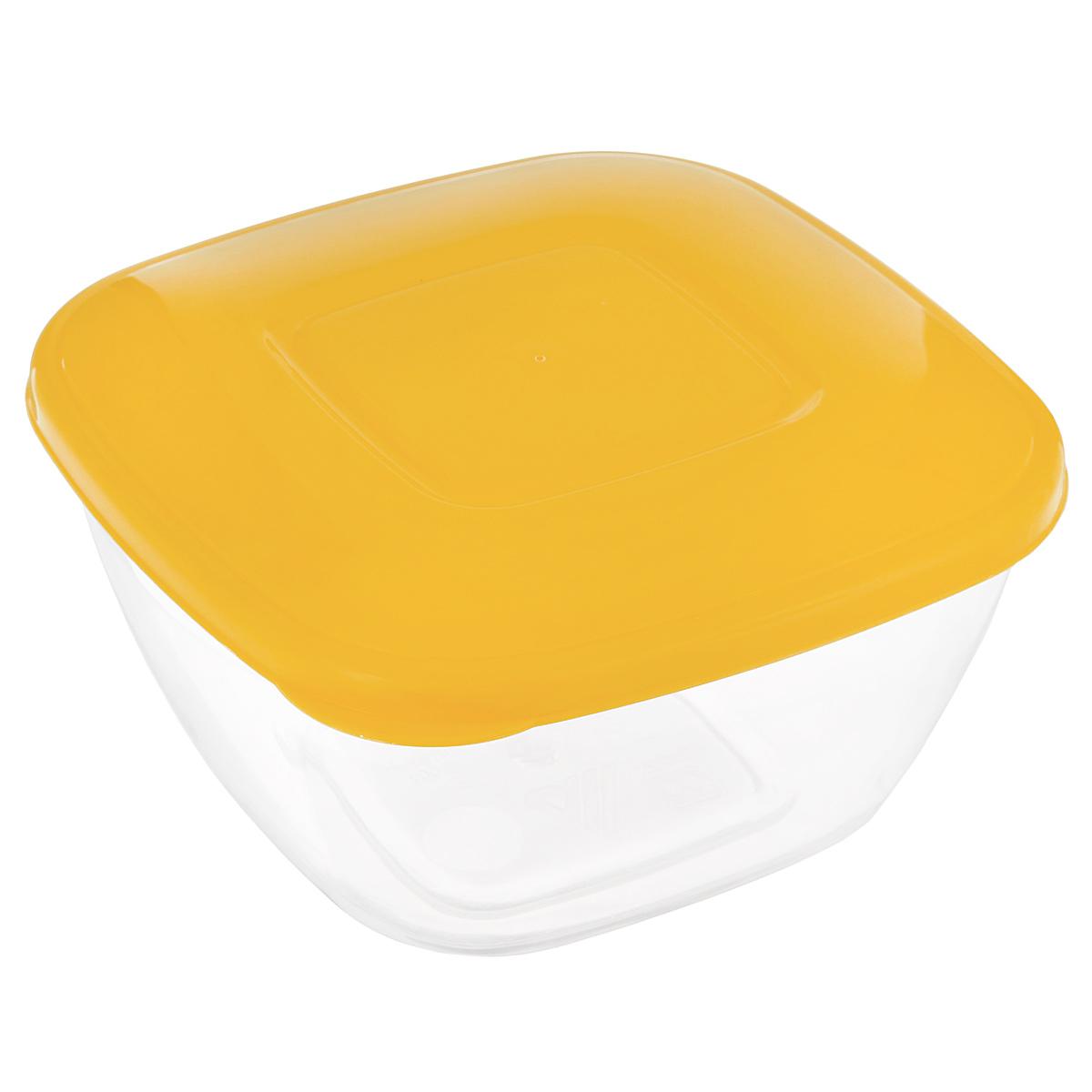 Емкость для СВЧ Альтернатива, цвет: желтый, прозрачный, 0,8 л. М371М371Емкость для СВЧ Альтернатива выполнена из высококачественного пищевого пластика и предназначена для горячих и холодных пищевых продуктов. Крышка плотно закрывается, дольше сохраняя продукты свежими и вкусными. Контейнер идеально подходит для хранения пищи, его удобно брать с собой на работу, учебу, пикник или просто использовать для хранения продуктов в холодильнике.