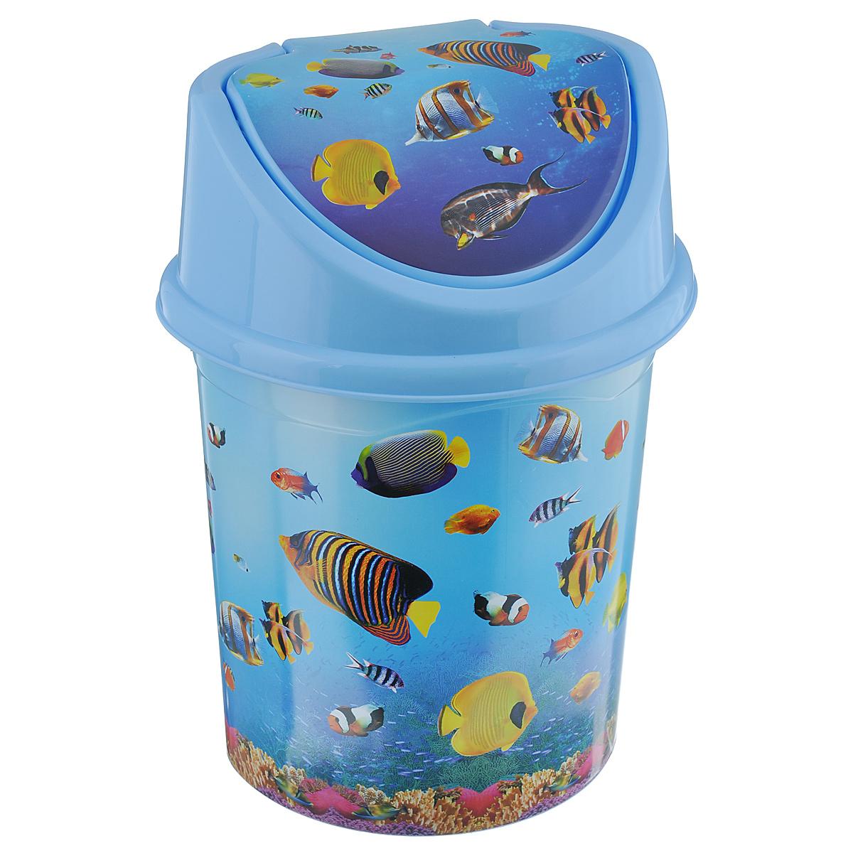 Контейнер для мусора Violet Океан, цвет: голубой, синий, желтый, 4 л0404/79Контейнер для мусора Violet Океан изготовлен из прочного пластика. Контейнер снабжен удобной съемной крышкой с подвижной перегородкой. В нем удобно хранить мелкий мусор. Благодаря яркому дизайну такой контейнер идеально впишется в интерьер и дома, и офиса. Размер изделия: 16 см x 20 см x 27 см.