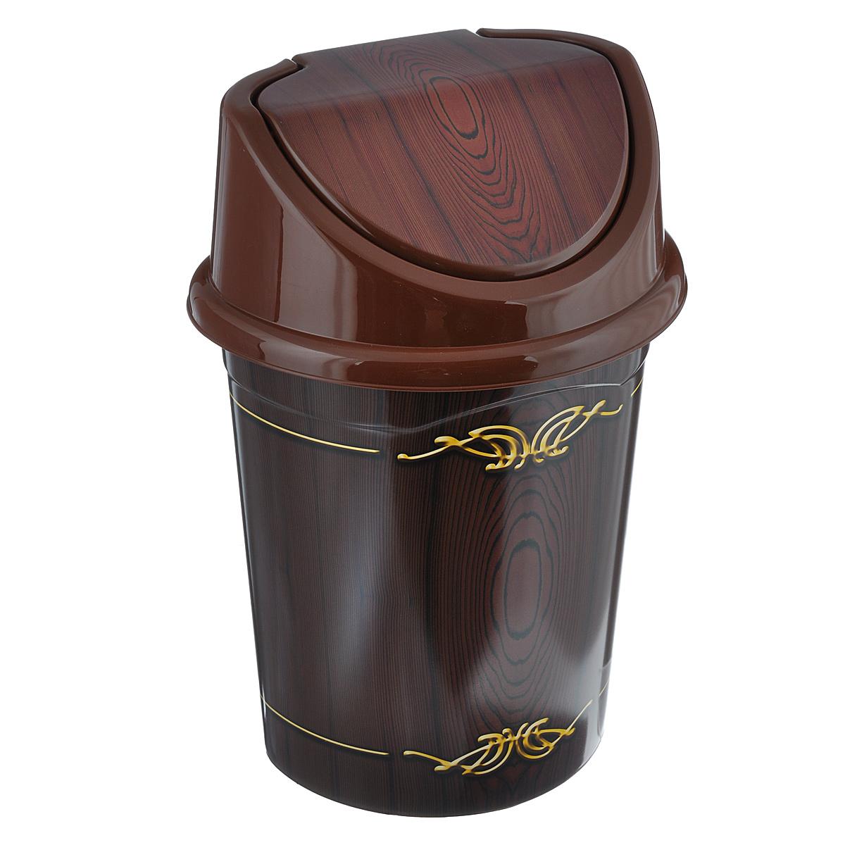 Контейнер для мусора Violet Дерево, цвет: коричневый, желтый, 4 л0404/81Контейнер для мусора Violet Дерево изготовлен из прочного пластика. Контейнер снабжен удобной съемной крышкой с подвижной перегородкой. В нем удобно хранить мелкий мусор. Благодаря лаконичному дизайну такой контейнер идеально впишется в интерьер и дома, и офиса. Размер изделия: 16 см x 20 см x 27 см.