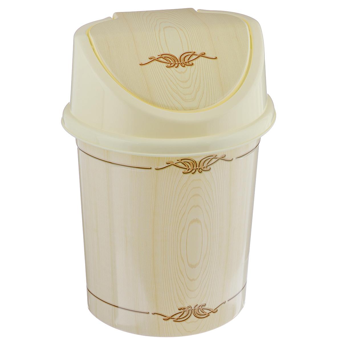 Контейнер для мусора Violet Беленый дуб, цвет: слоновая кость, коричневый, 4 л0404/91Контейнер для мусора Violet Беленый дуб изготовлен из прочного пластика. Контейнер снабжен удобной съемной крышкой с подвижной перегородкой. В нем удобно хранить мелкий мусор. Благодаря лаконичному дизайну такой контейнер идеально впишется в интерьер и дома, и офиса. Размер изделия: 16 см x 20 см x 27 см.