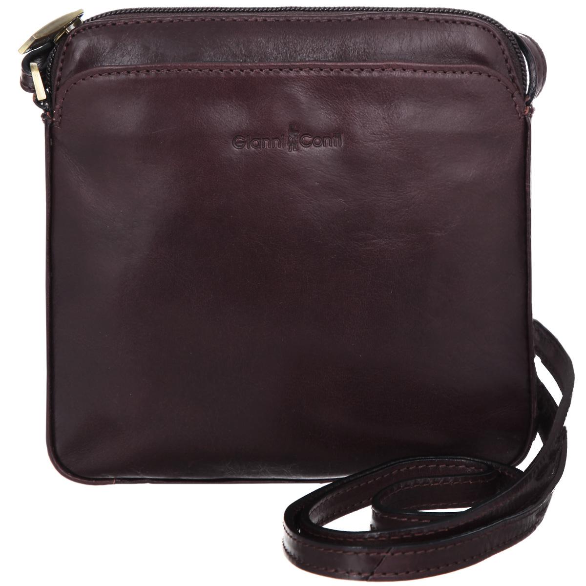 Сумка-планшет мужская Gianni Conti, цвет: коричневый. 904038904038Стильная сумка-планшет Gianni Conti выполнена из высококачественной натуральной кожи и дополнена тиснением с названием бренда производителя. Планшет имеет одно основное отделение, которое закрывается на застежку-молнию. Внутри имеется пришивной карман и прорезной на застежке-молнии. Снаружи на передней и задней стенках располагаются дополнительные карманы на магнитных кнопках. Сумка оснащена регулируемым плечевым ремнем. К планшету прилагается чехол для хранения. Функциональность, вместительность, качество исполнения и непревзойденный стиль сумки- планшета Gianni Conti, несомненно, понравится любому мужчине.
