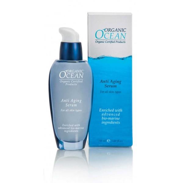 Organic Ocean Сыворотка антивозрастная для лица, 50мл20666Высокоактивная сыворотка обладает активным лифтинговым действием. Средство обогащено коктейлем из океанических водорослей АЛЯРИЯ, ПЕЛЬВЕЦИЯ ЖЕЛОБОЧНАЯ, который стимулирует микроциркуляцию, активизирует синтез коллагена и эластина, в результате чего выравнивается рельеф кожи, повышается упругость и четкость овала лица. ГИАЛУРОНОВАЯ КИСЛОТА способствует активному и длительному увлажнению. Органические масла и растительные экстракты: СЕНГЕЛЬСКОЙ АКАЦИИ,КАТРАНА ПРИМОРСКОГО, ЛЮЦЕРНЫ, СКВАЛЕНА, АЛОЭ ВЕРА, ОЛИВЫ, ЖОЖОБА стимулируют обменные процессы в клетках кожи, увлажняют, защищают от вредного воздействия свободных радикалов и поддерживают молодость и здоровье кожи.
