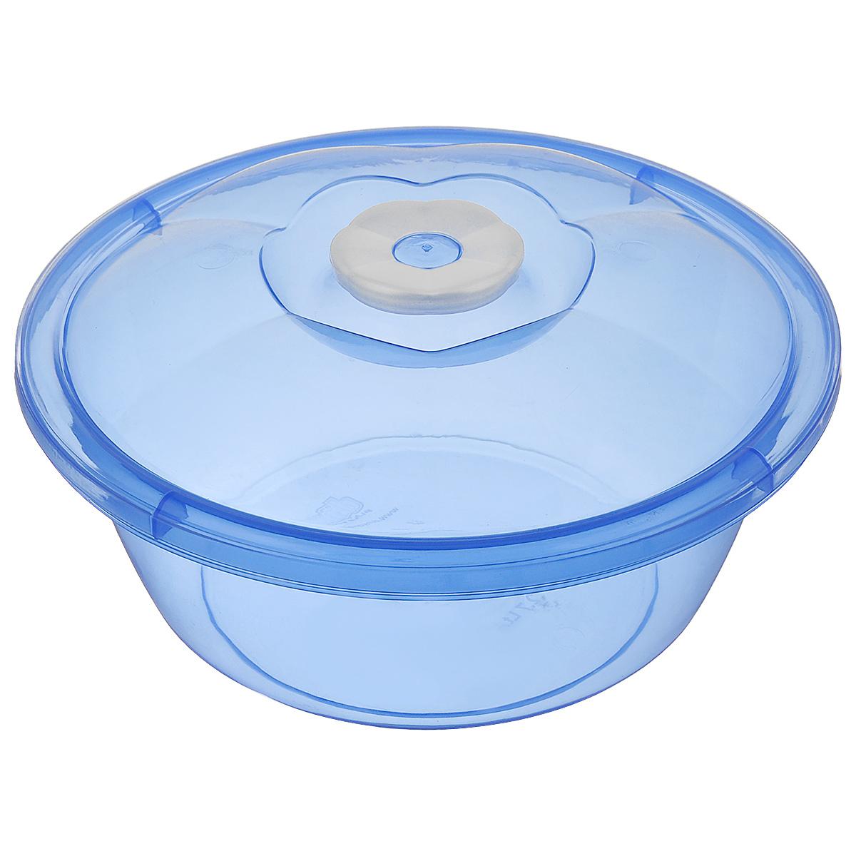 Миска Dunya Plastik, с крышкой, цвет: синий, белый, 2,7 л10433_синийМиска Dunya Plastik, изготовленная из пищевого пластика, имеет круглую форму. Изделие, оснащенное крышкой, очень функциональное. Оно прекрасно подойдет для хранения различных бытовых предметов, пищевых продуктов. Можно мыть в посудомоечной машине. Объем: 2,7 л. Диаметр (по верхнему краю): 24 см. Высота стенки (без учета крышки): 10 см.