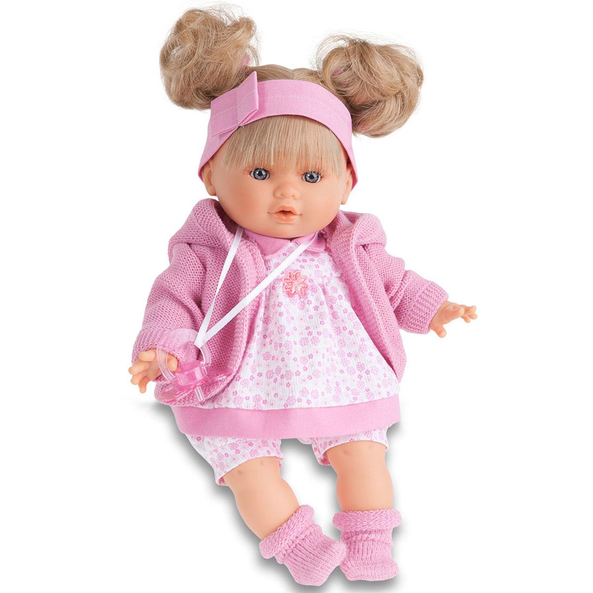 Munecas Antonio Juan Пупс Кристи в розовом костюме1337PКукла-малыш выглядит как настоящий ребенок. Личико сделано с детальными прорисовками. Малыш умеет плакать, вставьте соску в ротик куклы и она сразу успокоится. Кукла с виниловыми подвижными ручками, ножками и головой, и мягконабивным туловищем. Кукла упакована в красивую подарочную коробку.
