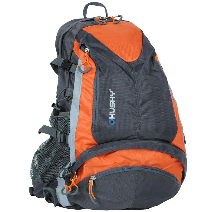 Рюкзак городской Husky Stingy 28L, цвет: оранжевый, серыйУТ-000053011Рюкзак Husky Stingy 28L предназначен для прогулок и велоспорта. Он позволит вам взять с собой все необходимое. Рюкзак выполнен из прочного нейлона. Особенности рюкзака Husky Stingy 28L: Водонепроницаемая ткань; Система вентиляции спины; Крепеж для треккинговой палки; Карман для питьевой системы с выходом; Накидка от дождя; Боковые карманы-сетки; Светоотражающие элементы.