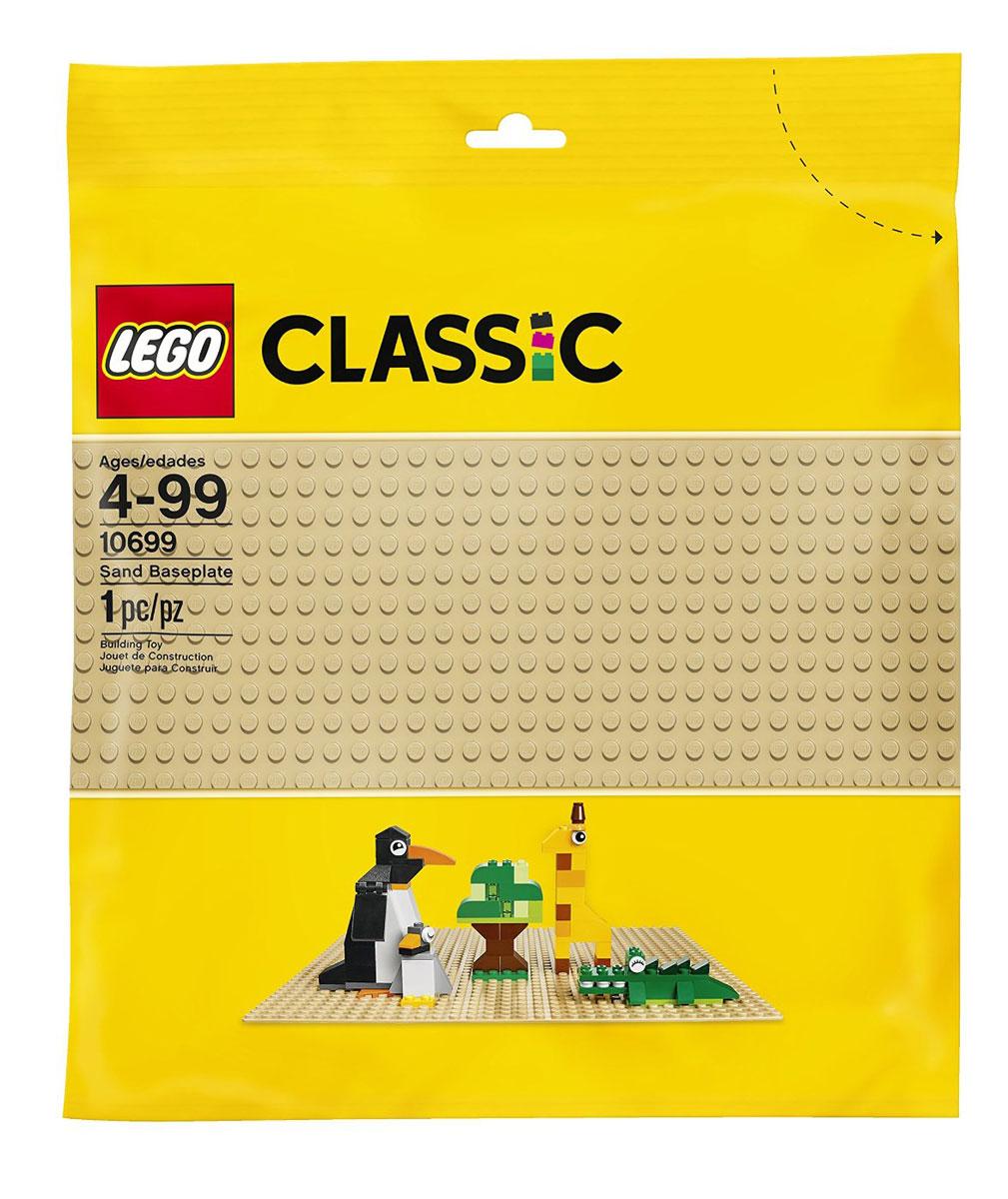 LEGO Classic Конструктор Строительная пластина цвет бежевый 1069910699Создаете ли вы сад, лес, пустыню или что-то продиктованное вам собственным воображением, эта базовая пластина бежевого цвета размером 25,5 см x 25,5 см (32х32 выступа) - идеальная отправная точка для сборки, демонстрации ваших творений из конструктора LEGO и игры с ними. Конструктор - это один из самых увлекательнейших и веселых способов времяпрепровождения. Ребенок сможет часами играть с конструктором, придумывая различные ситуации и истории. В процессе игры с конструкторами LEGO дети приобретают и постигают такие необходимые навыки как познание, творчество, воображение. Обычные наблюдения за детьми показывают, что единственное, чему они с удовольствием посвящают время, - это игры. Игра - это состояние души, это веселый опыт познания реальности. Играя, дети создают собственные миры, осваивают их, восстанавливают прошедшие и будущие события через понарошку, познавая - приобретают знания и умения. Фантазия ребенка безгранична, она позволяет ребенку учиться представлять...