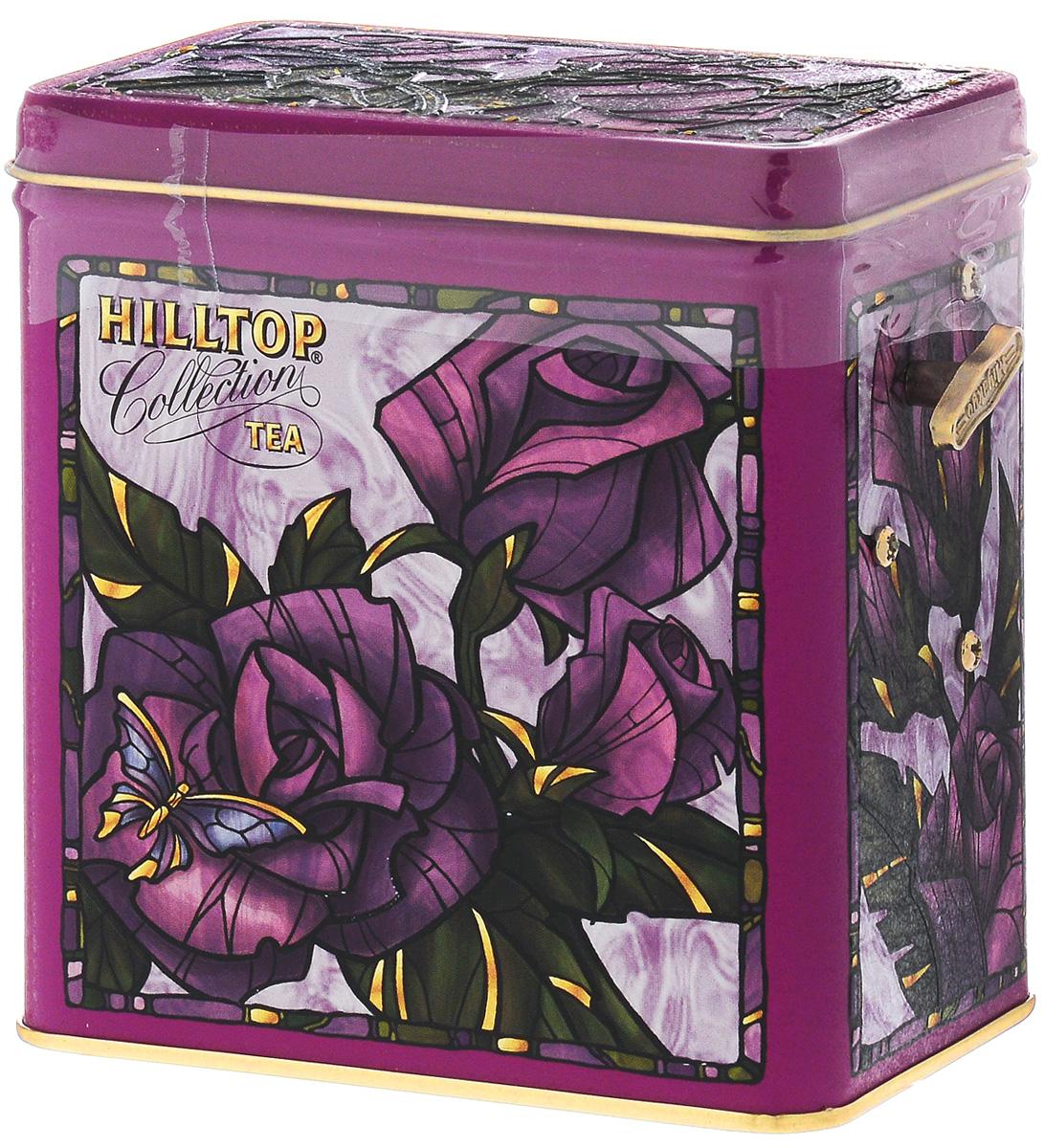 Hilltop Розы 1001 Ночь набор зеленого и черного листового чая в музыкальной шкатулке, 125 г4607099301009Hilltop Розы - смесь чёрных и зелёных байховых чаев с добавлением лепестков розы, жасмина, подсолнечника и сафлора, ароматизированная натуральными маслами. Оригинальная упаковка в виде музыкальной шкатулки будет великолепно смотреться на семейном застолье.
